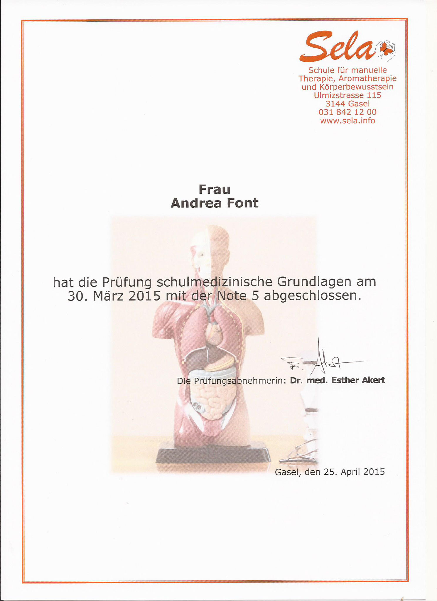 Schulmedizinische Grundlagen, 2015