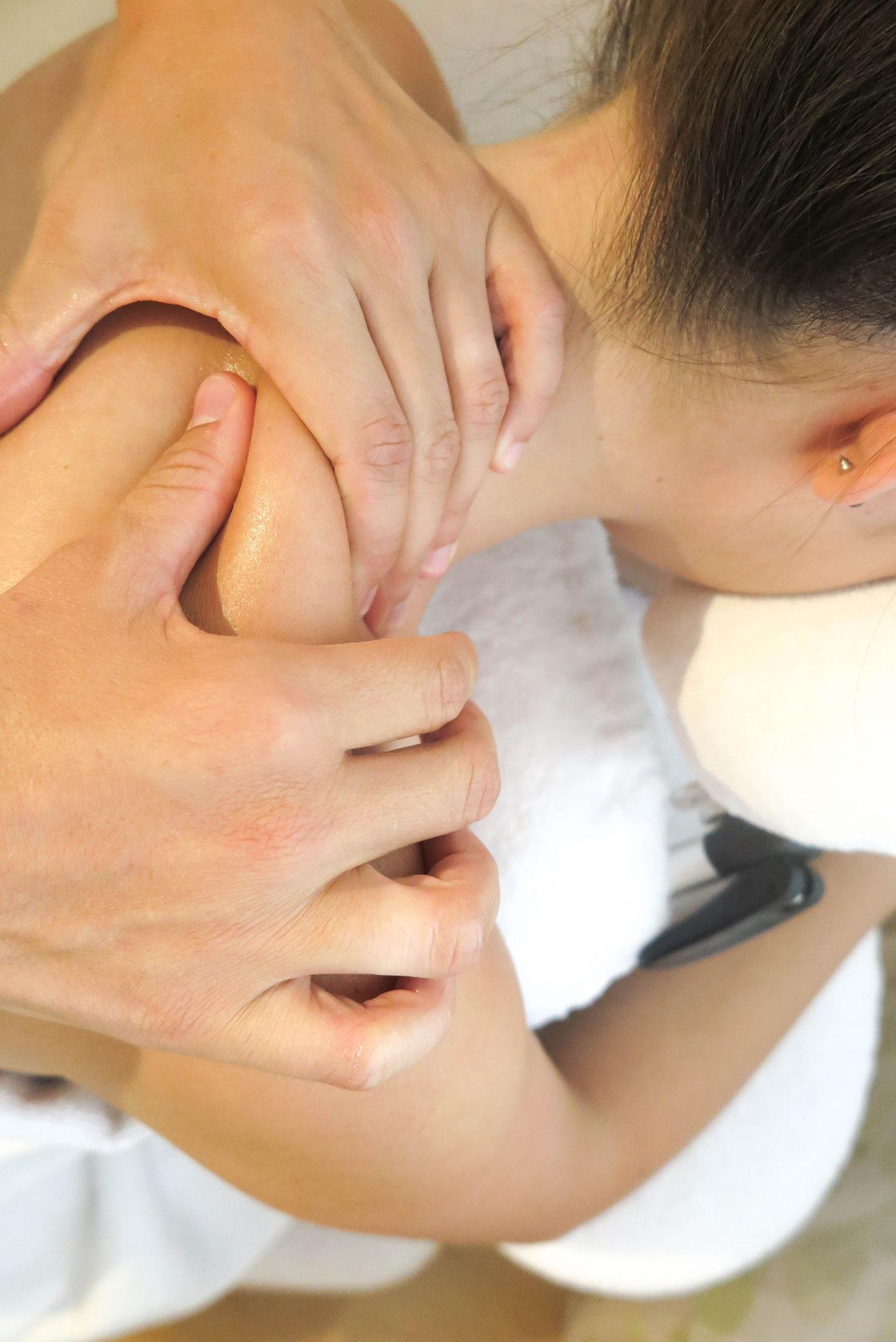 Nackenmassage, August 2019