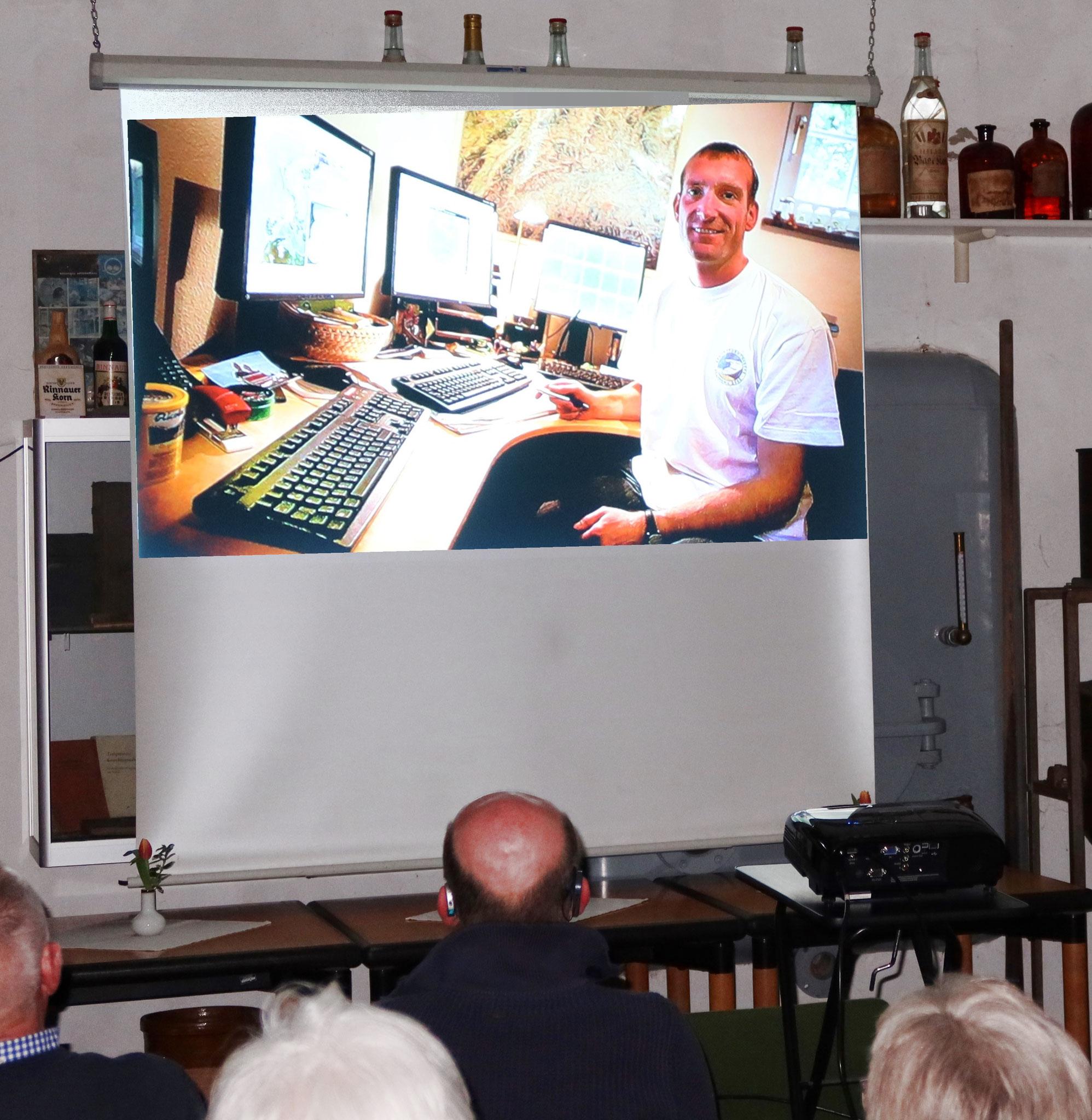 im Homeoffice in Lübbecke - beim Vortrag in Alter Brennerei