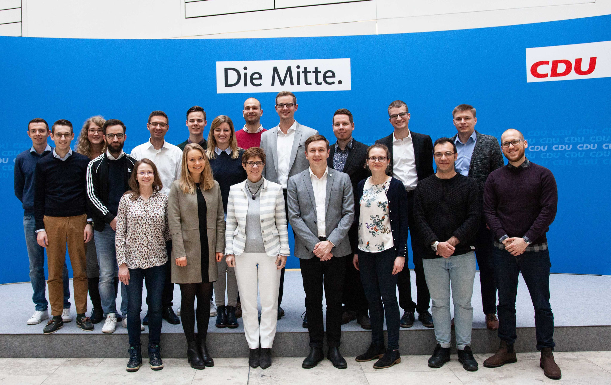 Prominenter Besuch: Fototermin mit der CDU-Parteivorsitzenden Annegret Kramp-Karrenbauer, umgangssprachlich AKK.