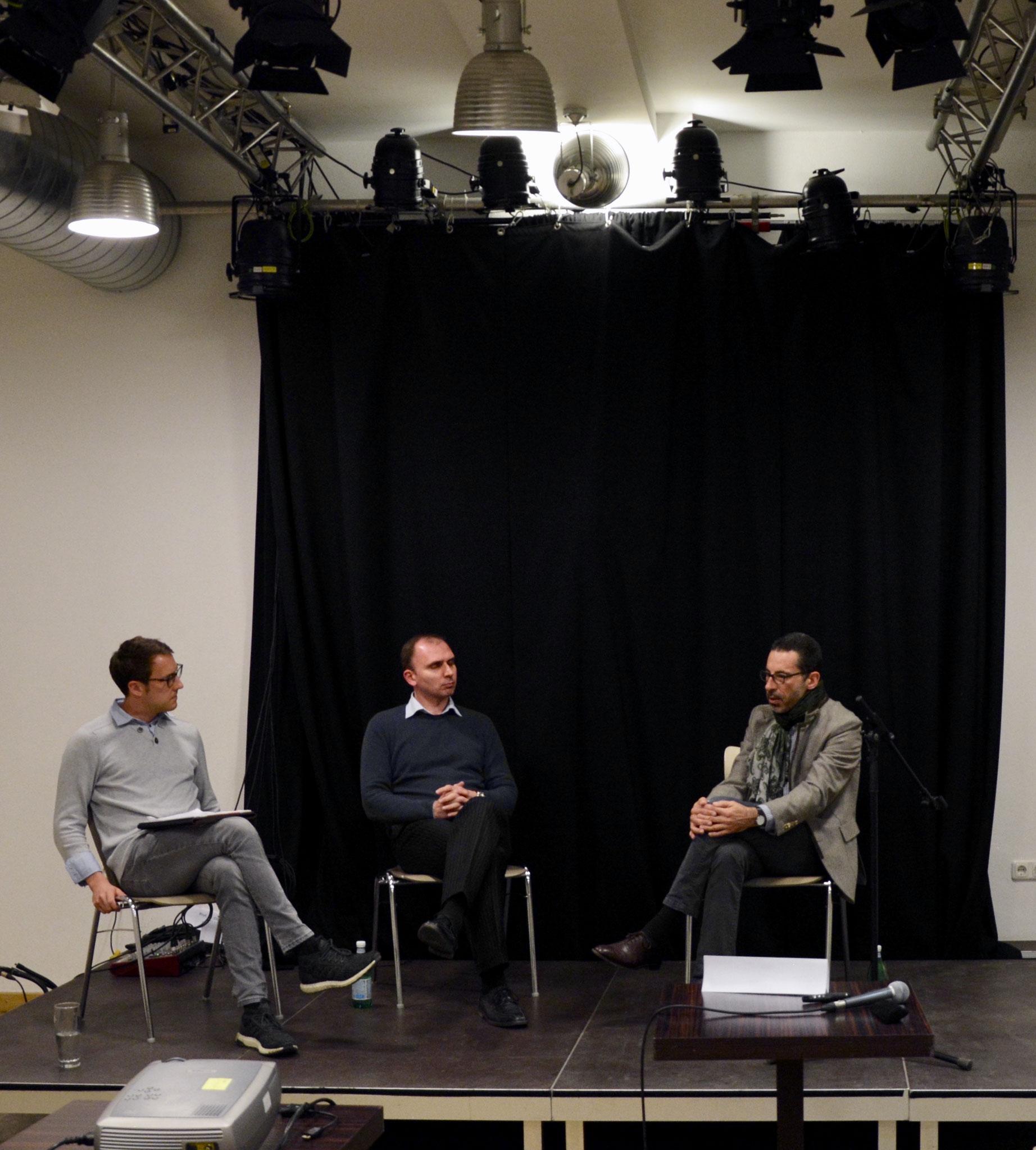von links nach rechts: Herr Dr. Jan Alpmann, Herr Prof. Michael Botsch und Herr Prof. Armin Engländer