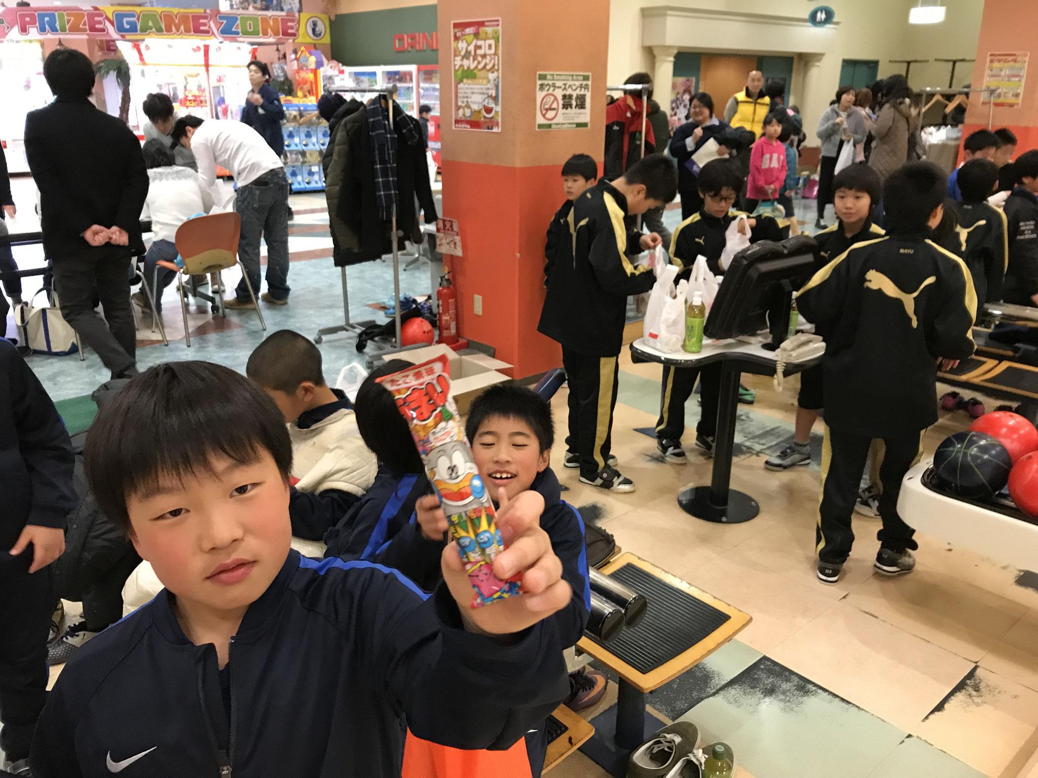2017年度卒団式(ボーリング大会)