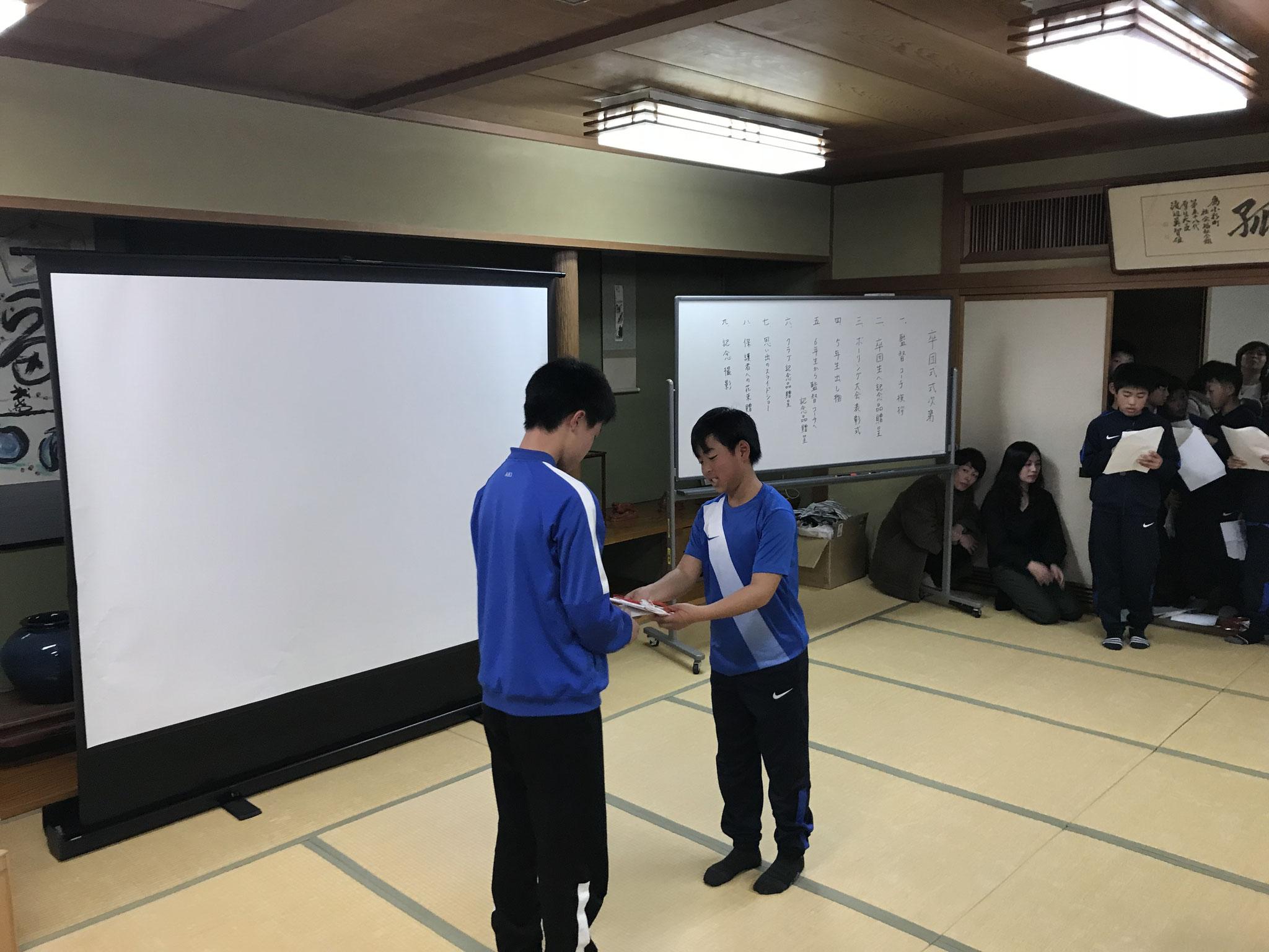2017年度卒団式(卒団式)