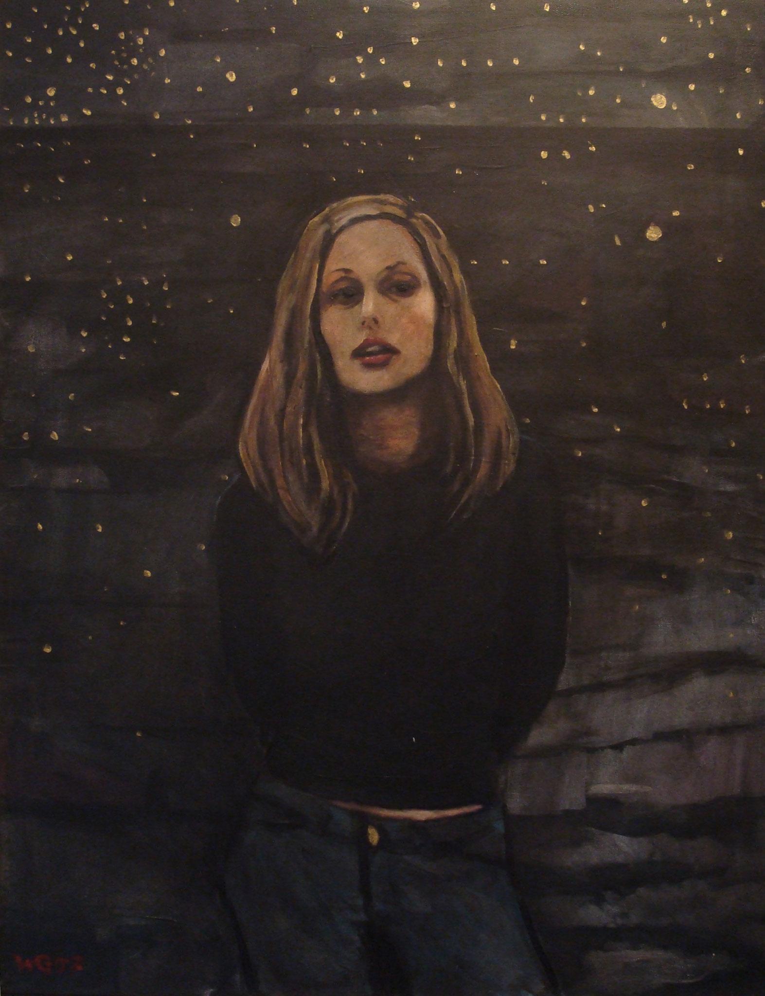 """""""Sternenmädchen"""", Acryl auf Baumwolle, 80x60, 2007"""