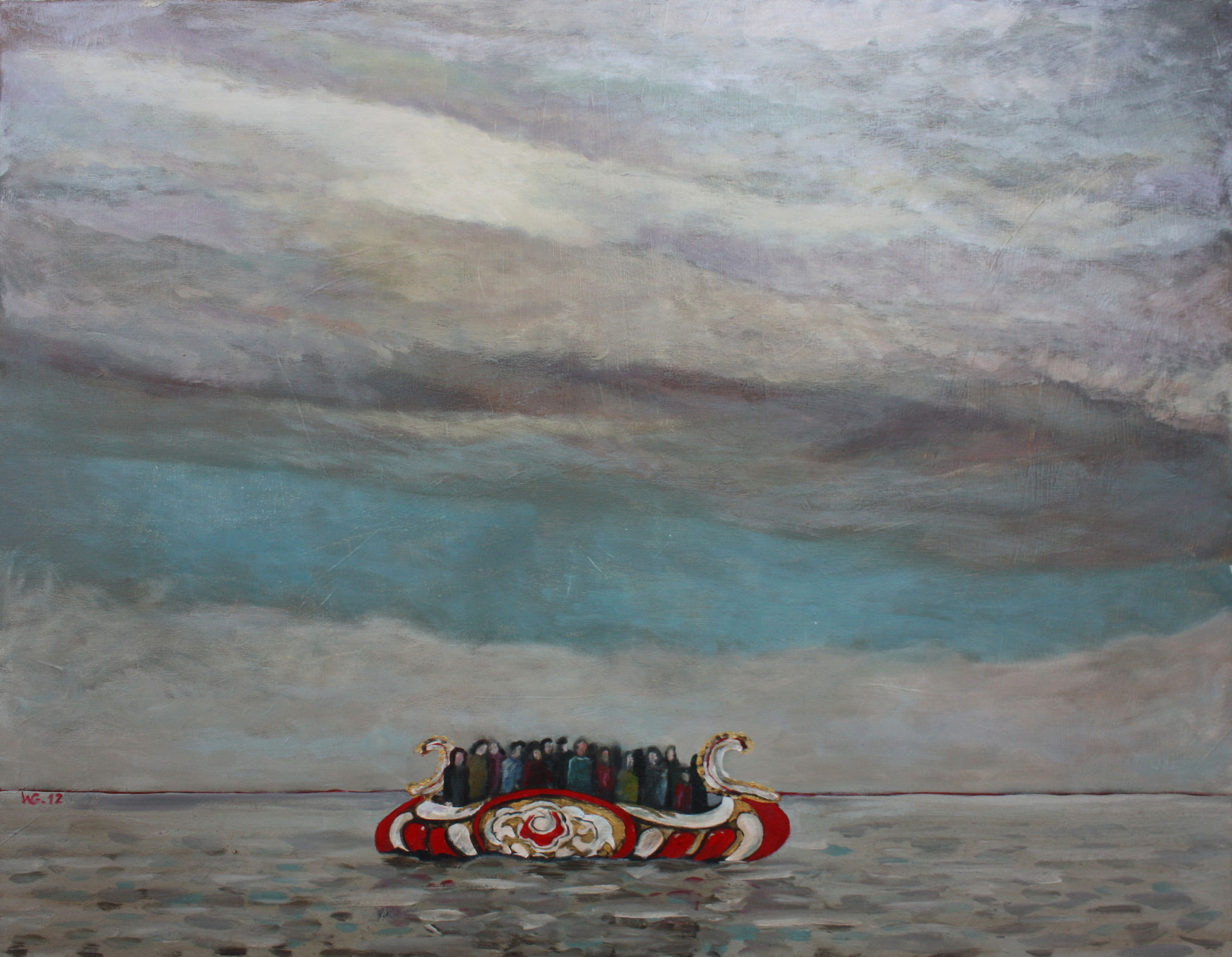 """Ein Boot"", Acryl auf Leinwand, 2012"