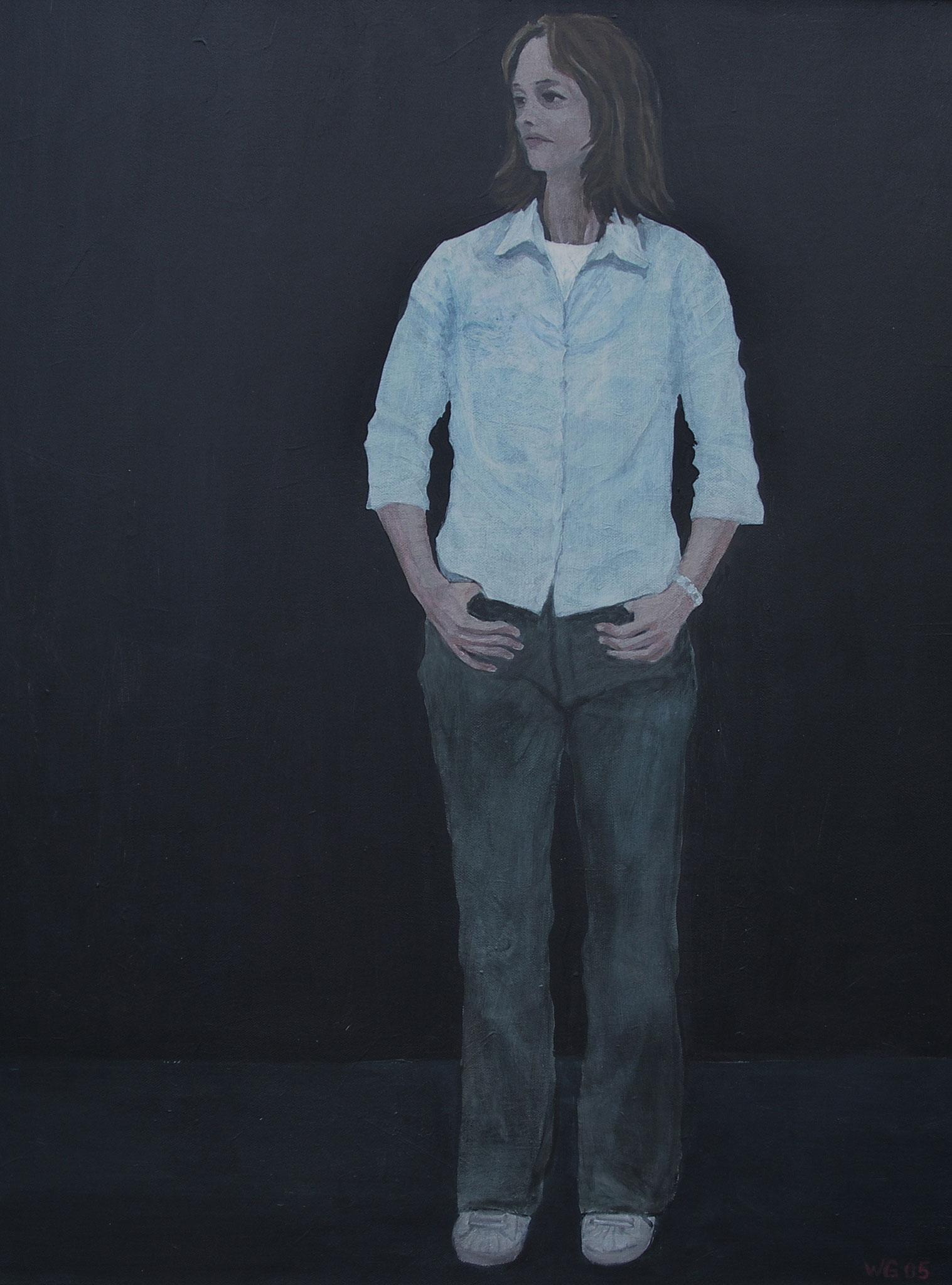 """""""Weiße Bluse"""", 80x60, Acryl auf Baumwolle, 80x60, 2005"""