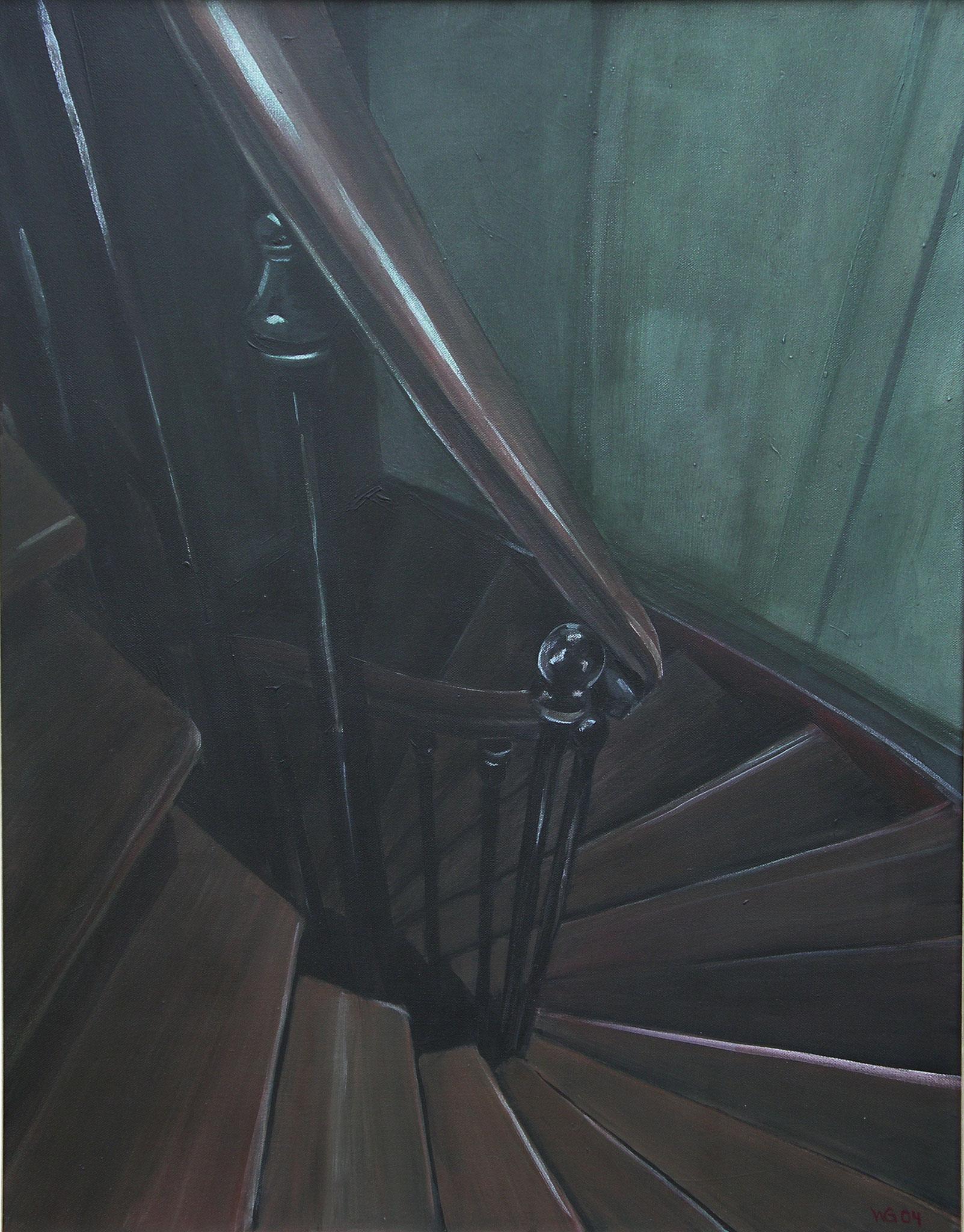 """Rue Lacodaire 27, Paris"", Acryl auf Leinwand, 80x60, 2004"