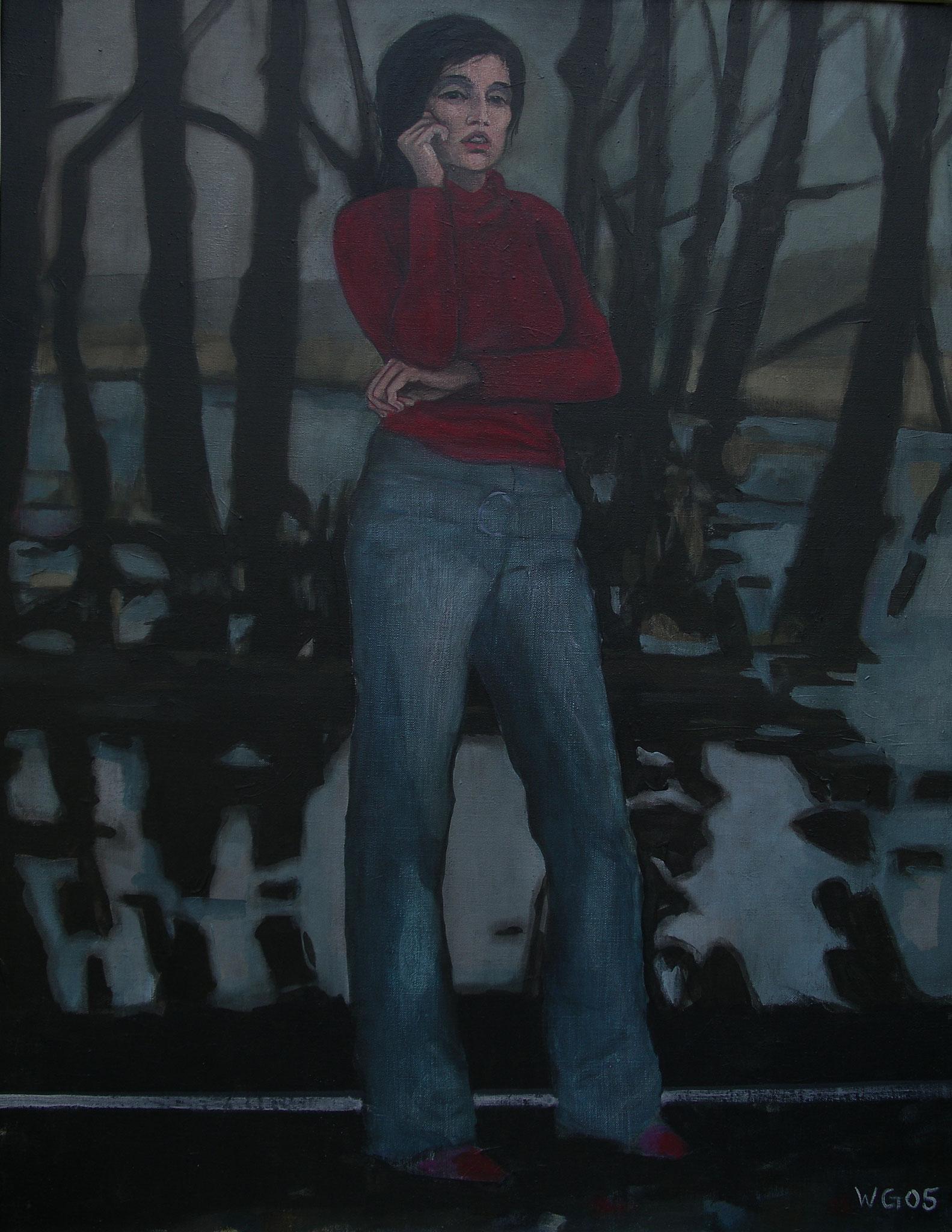"""""""Vor Sümpfen"""", Acryl auf Leinwand, 90x70, 2005"""