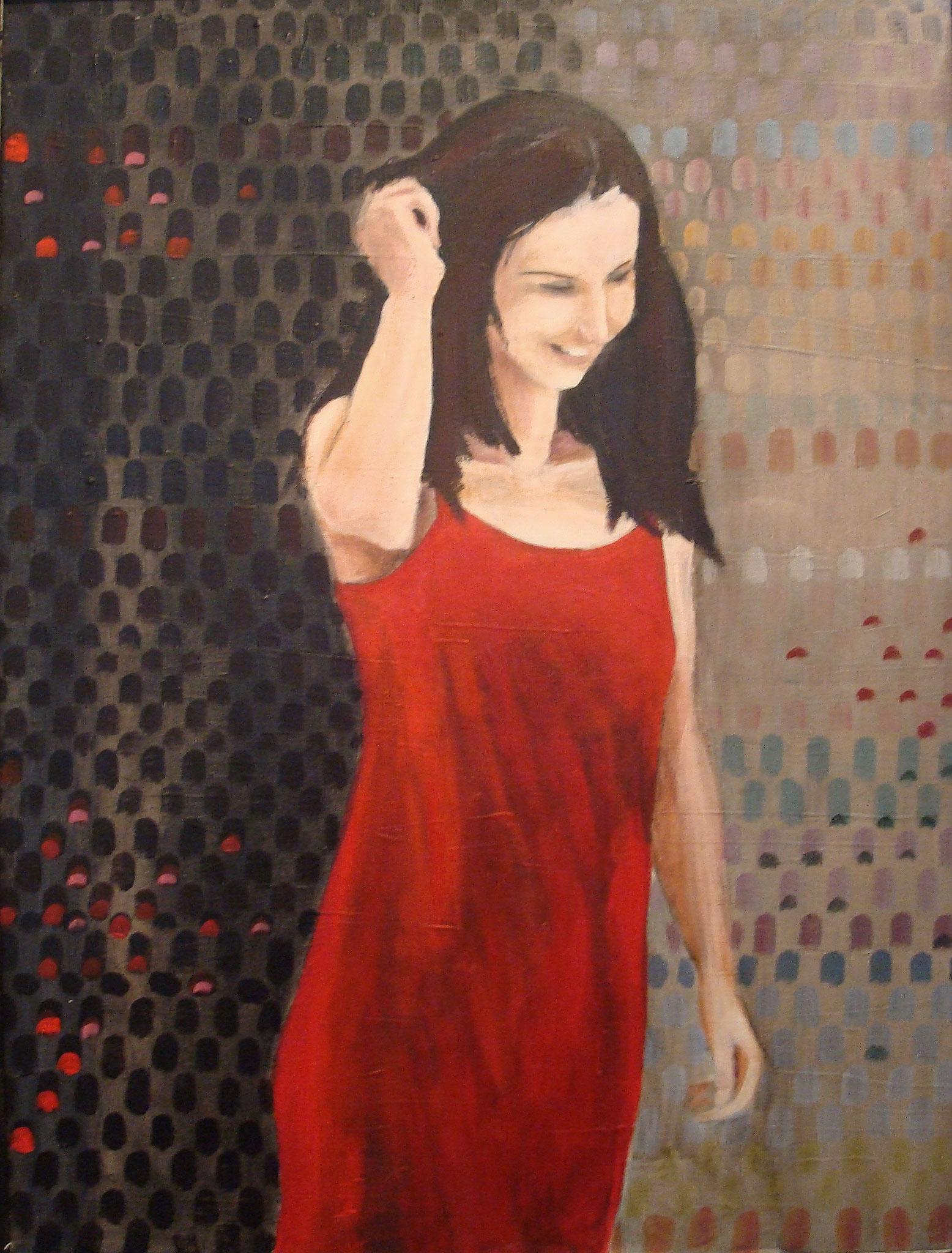 """""""Carmen"""", Acryl auf Baumwolle, 80x60, 2008"""