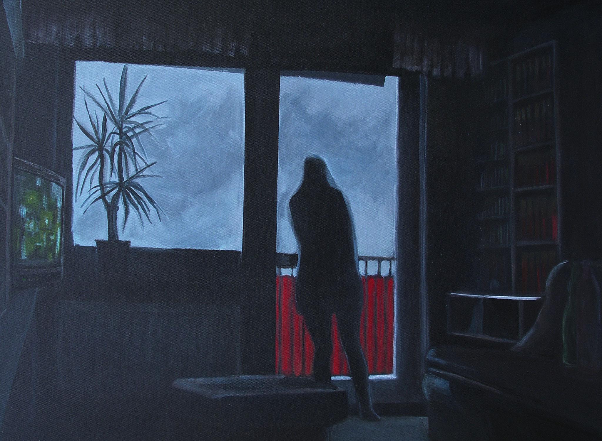 """""""Sturm"""", Acryl auf Baumwolle, 60x80, 2004"""