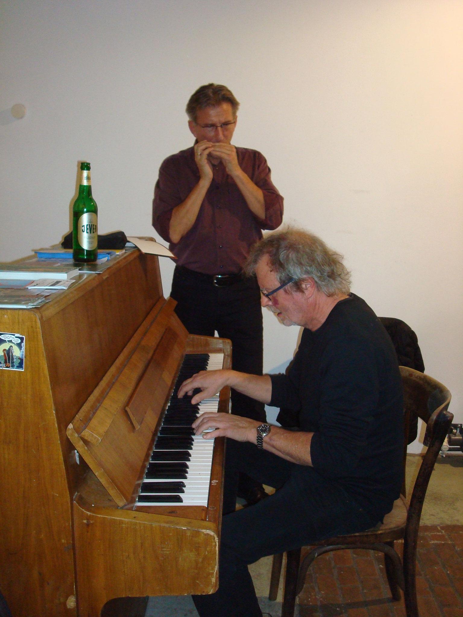 """Michael und Udo von der """"Bohnsdorfer Keller Blues Band"""""""