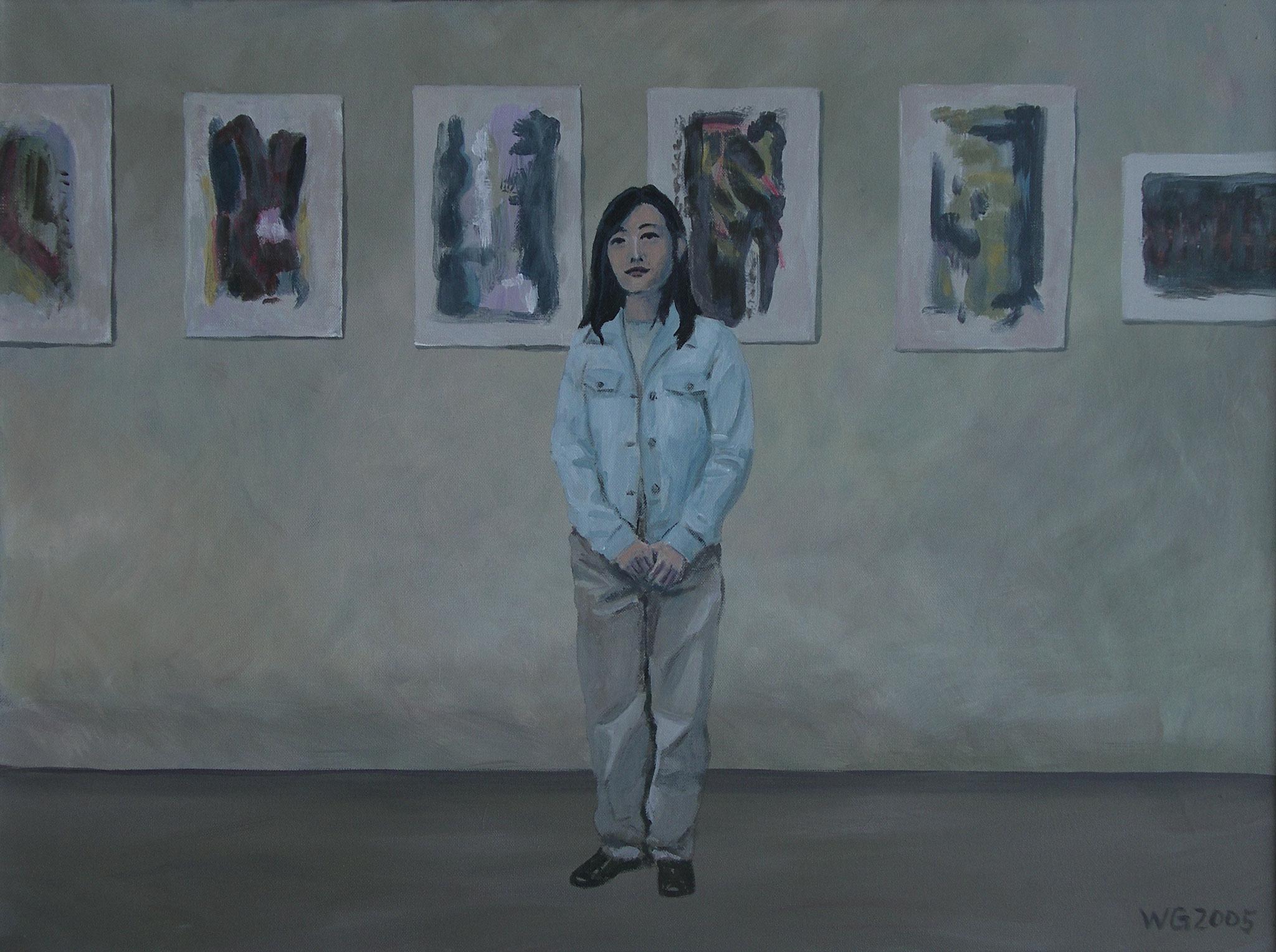 """""""Koreanerin"""", Acryl auf Baumwolle, 60x80, 2005"""