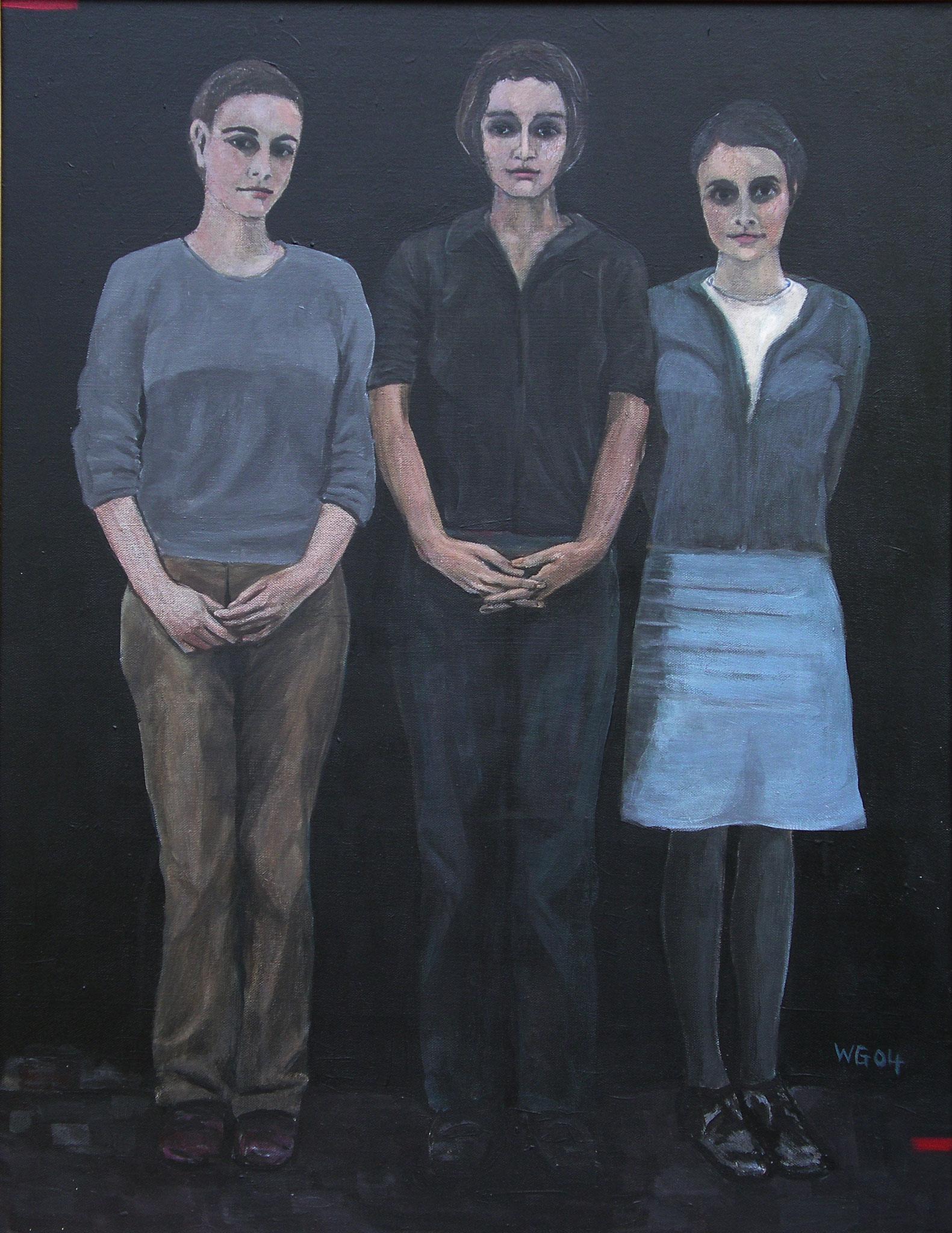 """Die Drei"", Acryl auf Leinwand, 80x60, 2004"