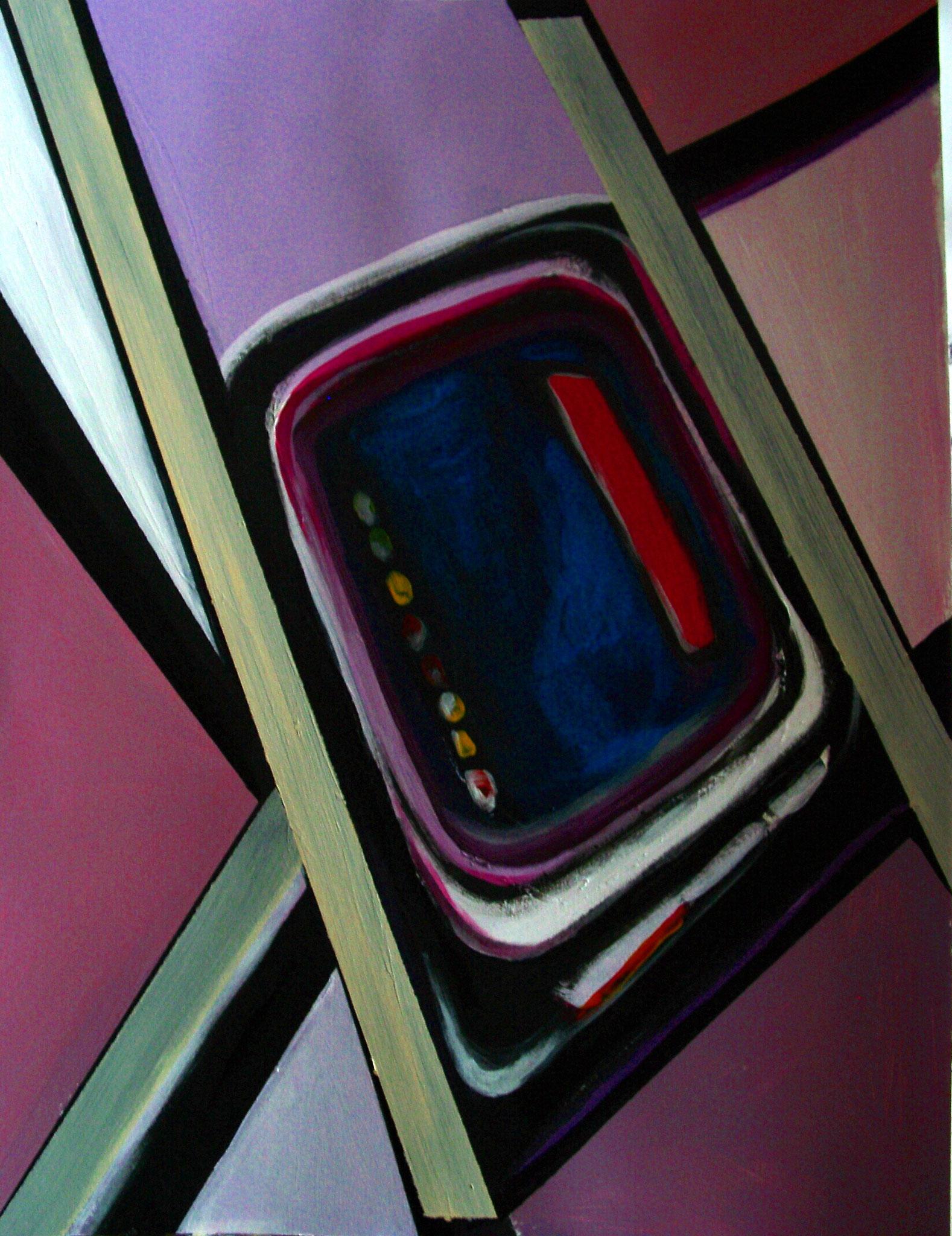 """""""Digital"""",Acryl auf Papier, 56x42, 2004"""