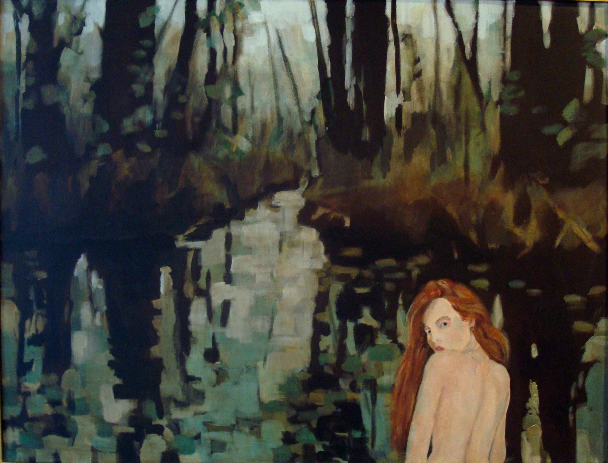 """""""Am Wasser"""", Acryl auf Baumwolle, 60x80, 2013"""