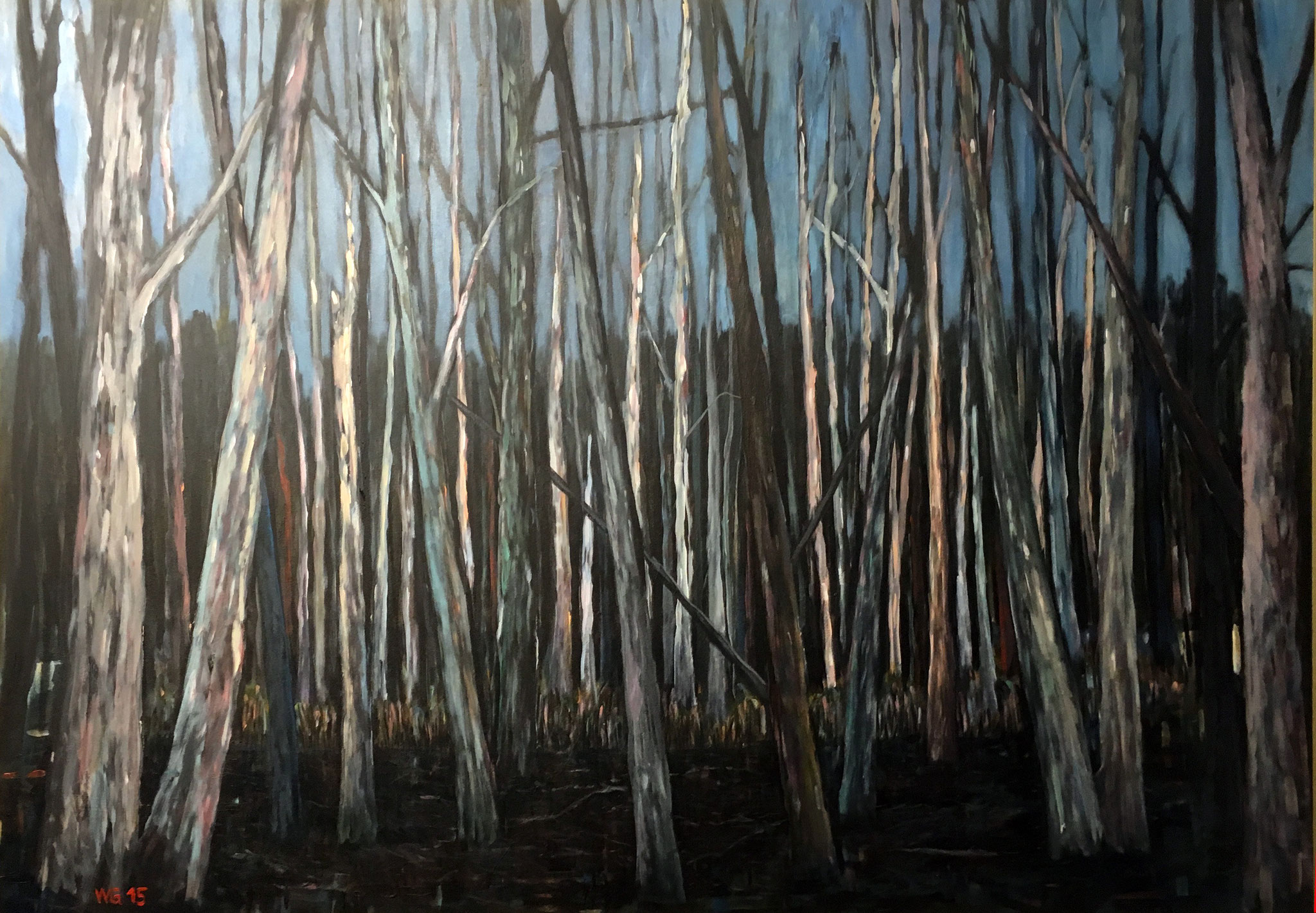 """Relative Trockenheit"", Acryl auf Baumwolle, 100x140, 2015"