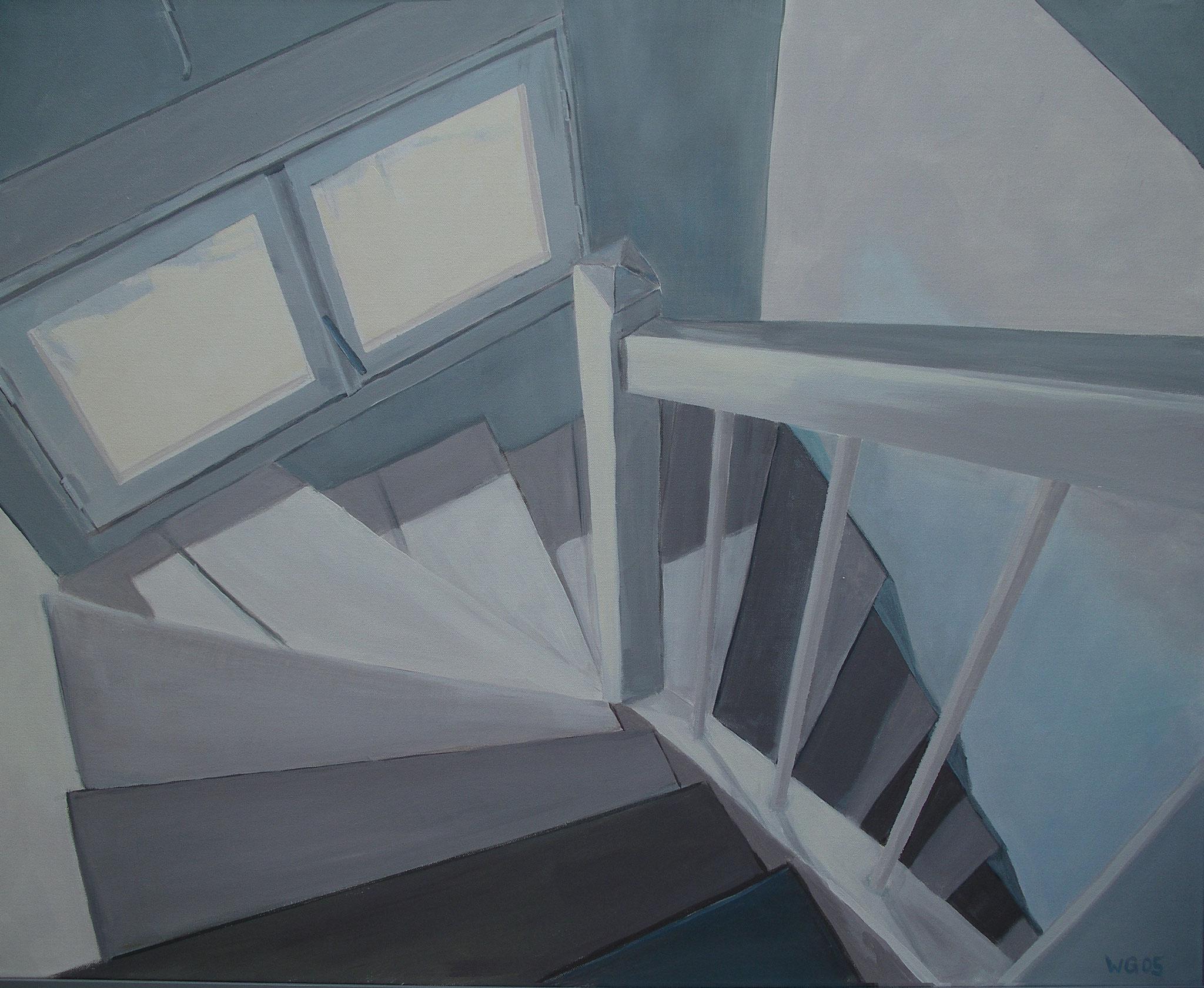 """Les Haies, Montacher"", Acryl auf Baumwolle, 80x100, 2005"