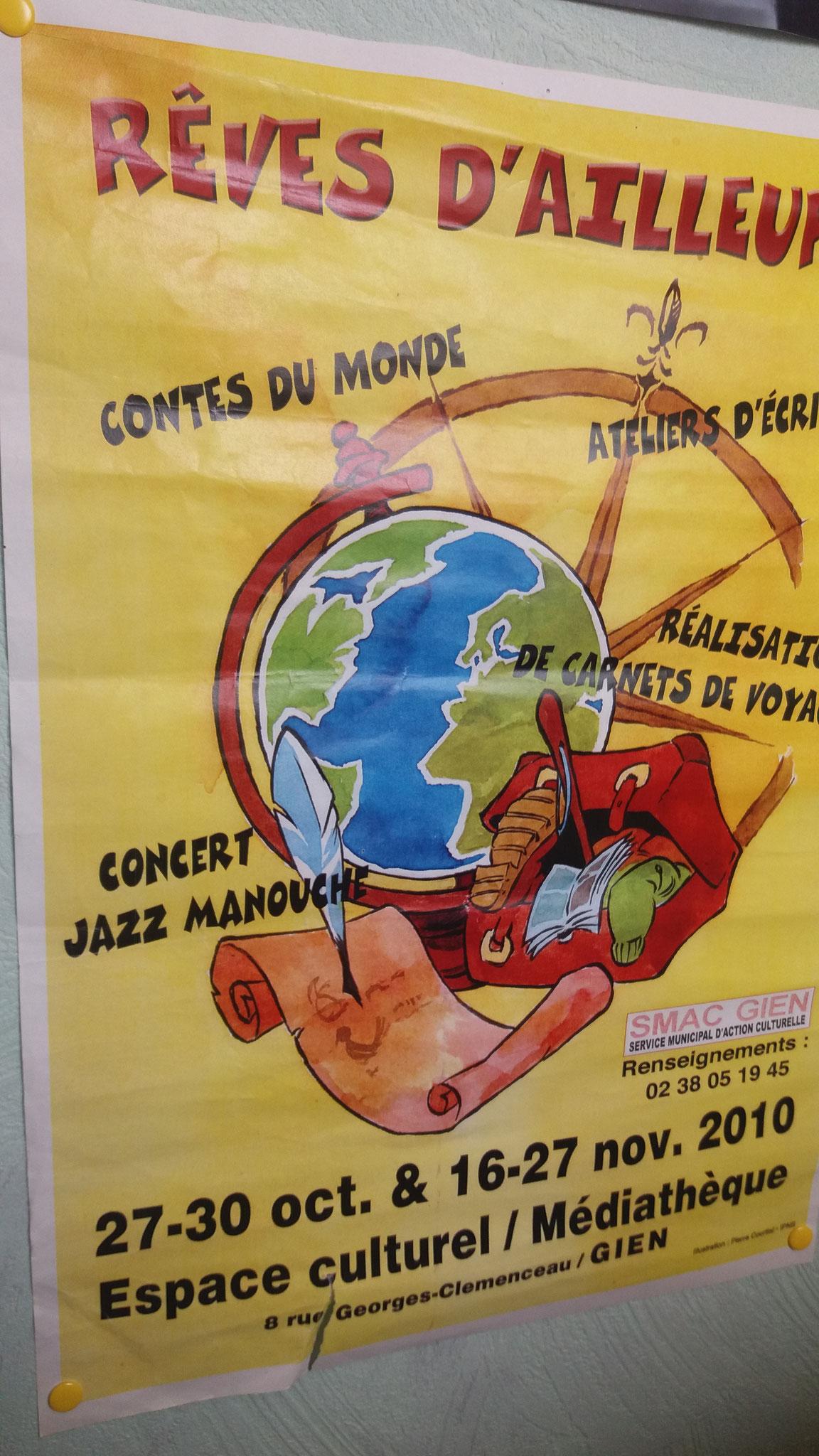 """Médiathèque de GIENS 2010 """" Couleurs du Monde"""" spectacle conté/chanté H PHUNG"""