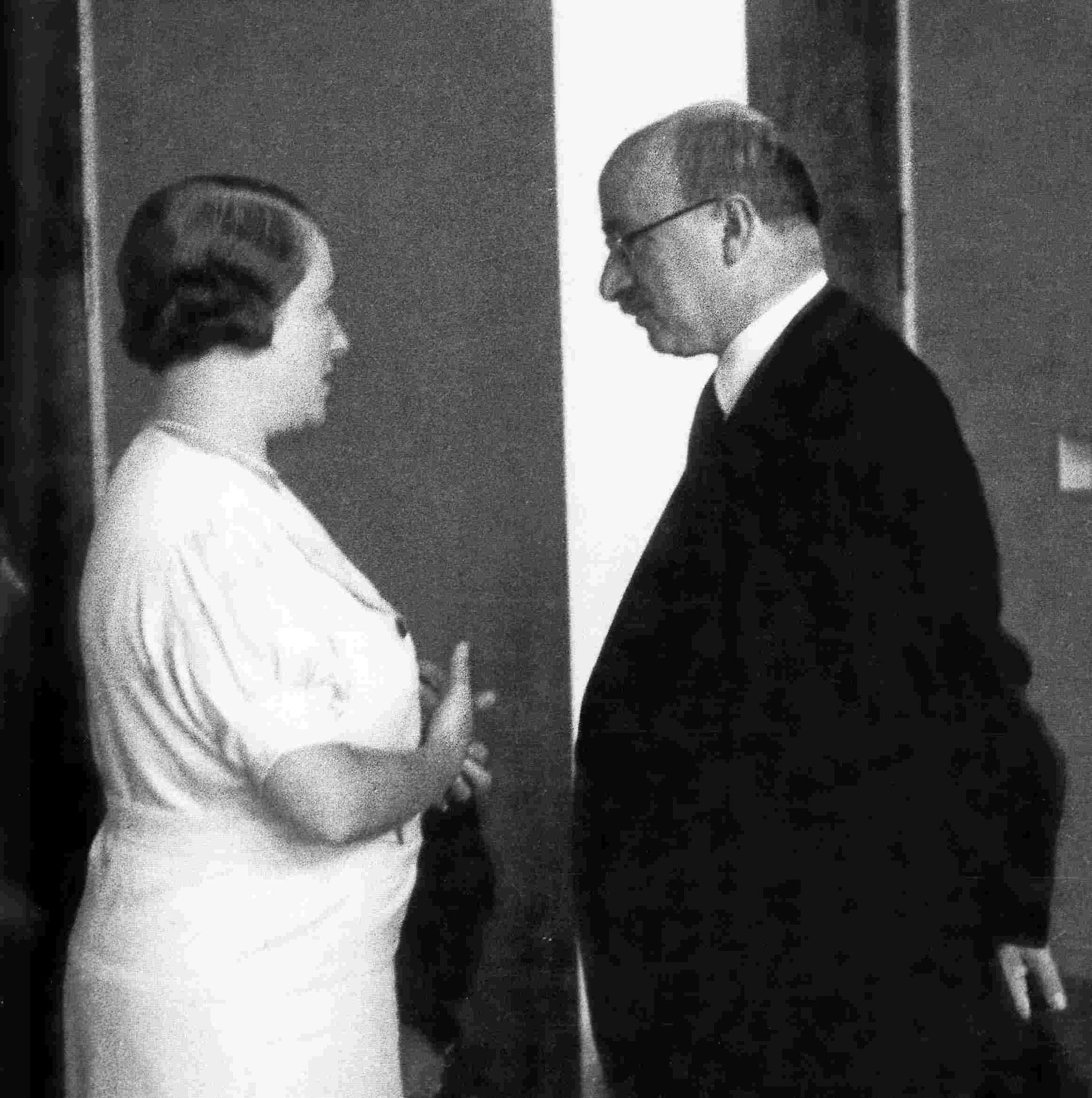 Max Eitingon und Clara Happel, IPV-Kongress 1934, Luzern