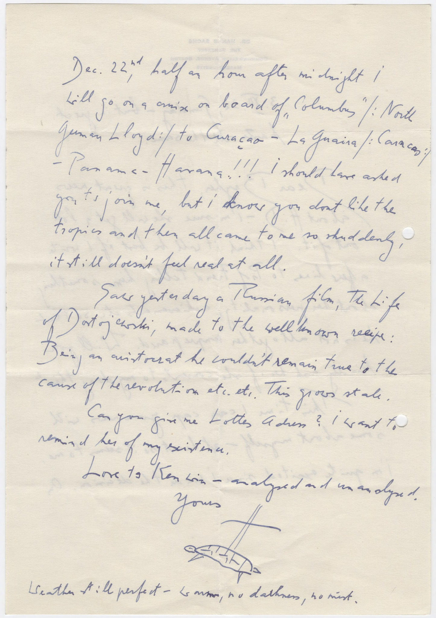 "Sachs an Bryher, 3. Dezember 1932 (""turtle"")"