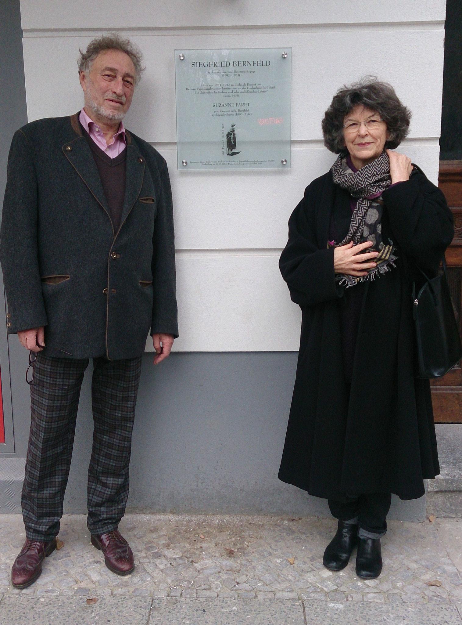 Professor Micha Brumlik, der Pate, und Regine Lockot