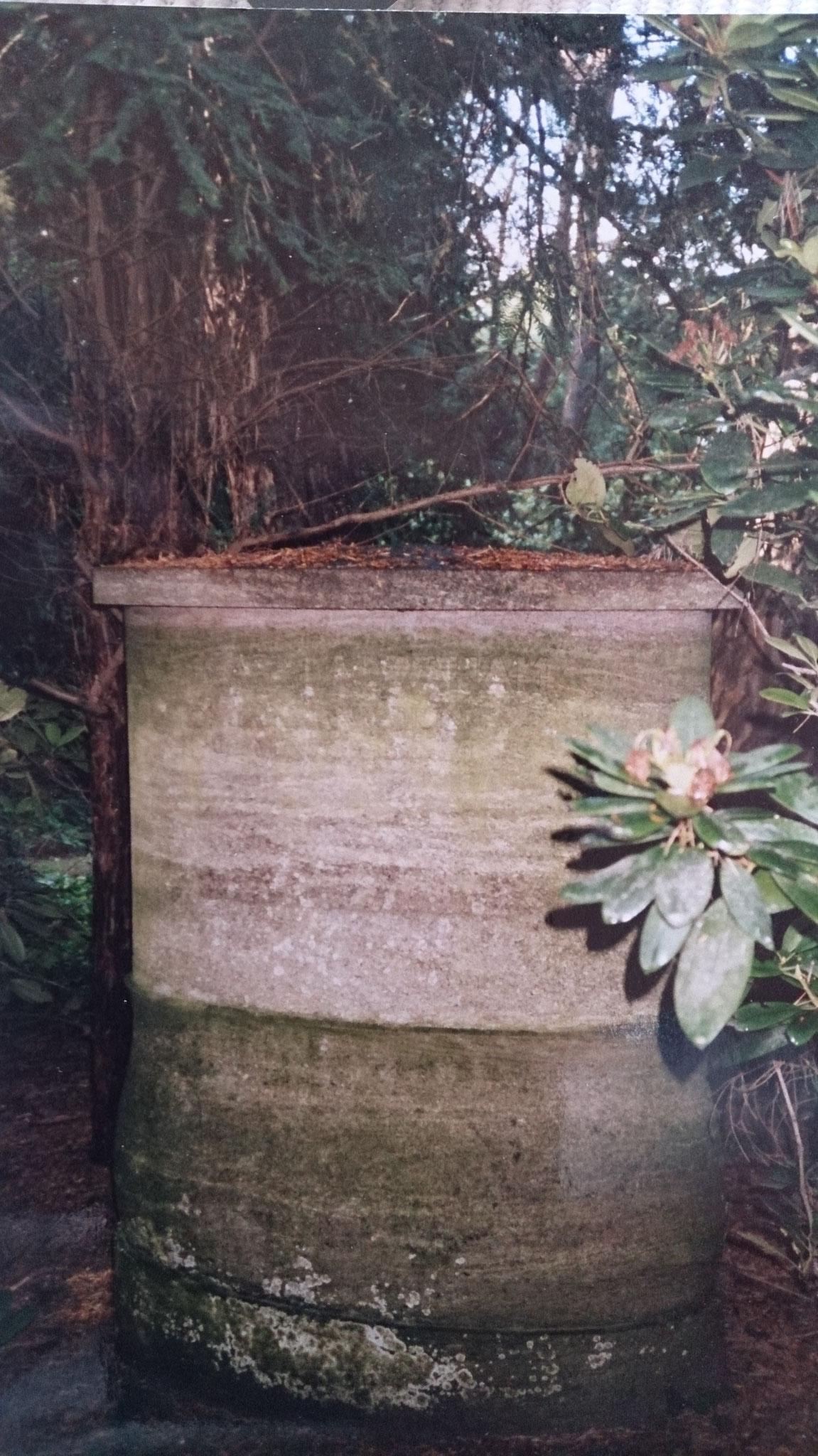 Grabstein Karl Abrahams, Parkfriedhof Lichterfelde in Berlin-Steglitz