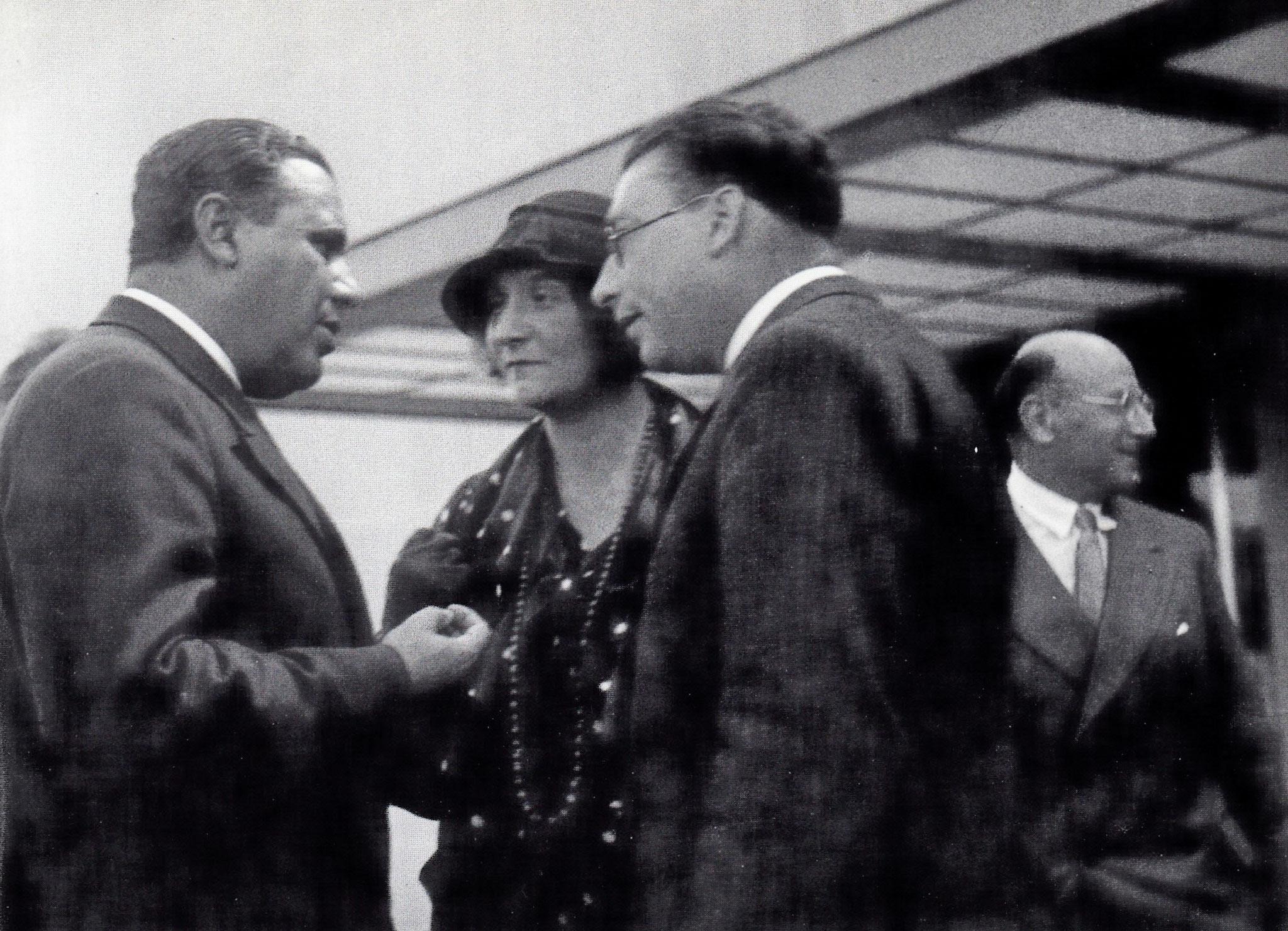Alexander, M.Bonapart, Loewenstein, Spitz. IPV-Kongress 1934, Luzern