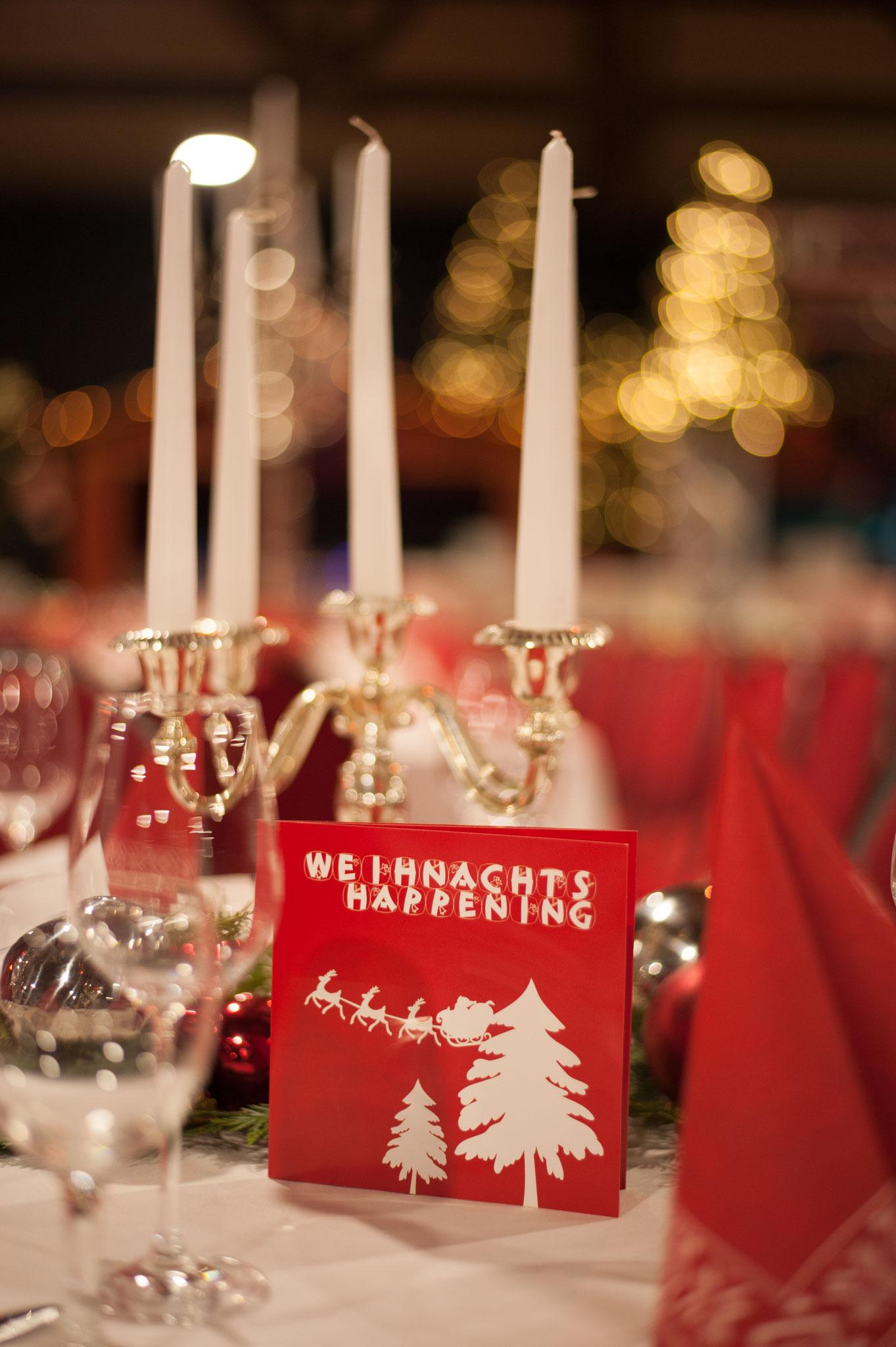 Tischdekoration - Design und Print - Weihnachts-Happening