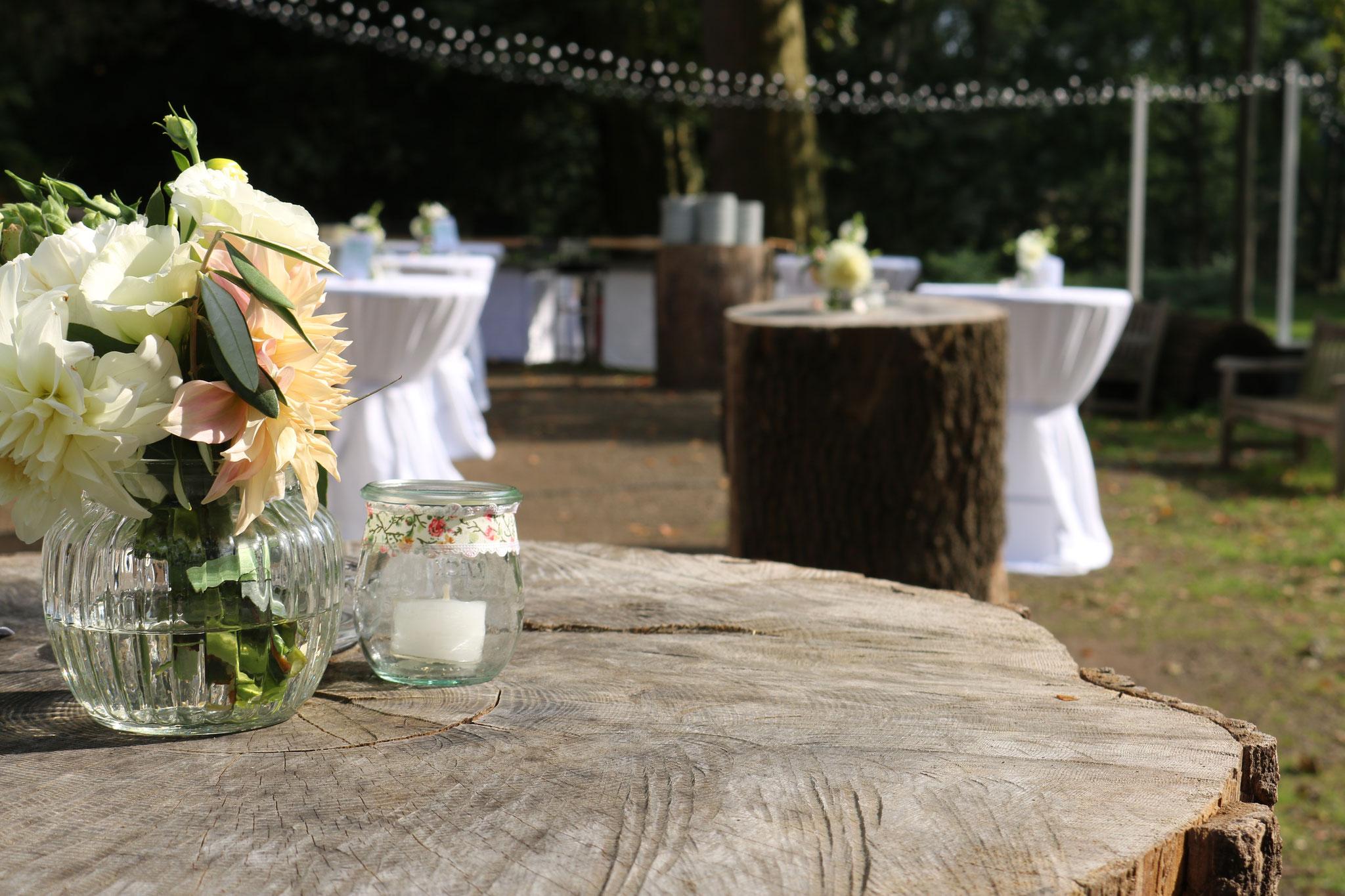 Outdoor Dekoration - Hochzeit Vintage