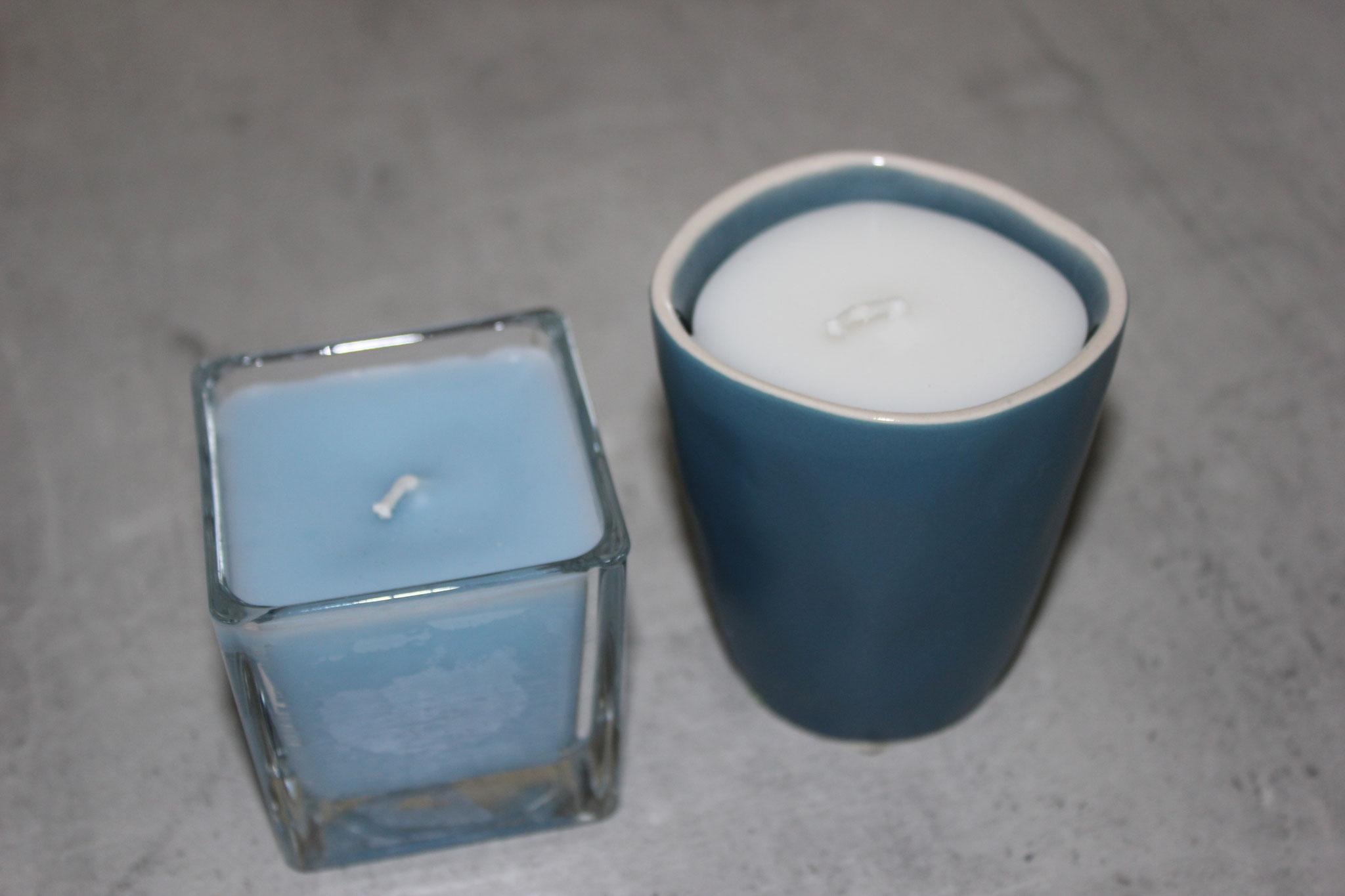 Lot de 2 bougies parfum léger vanille et agrume