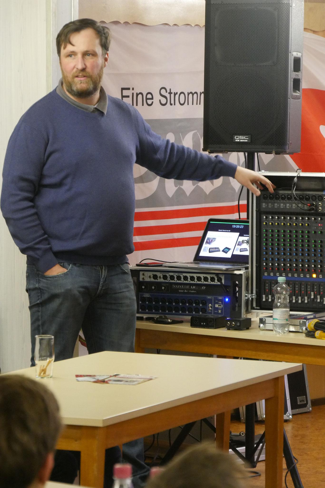 Workshop Tontechnik mit Markus Großmann