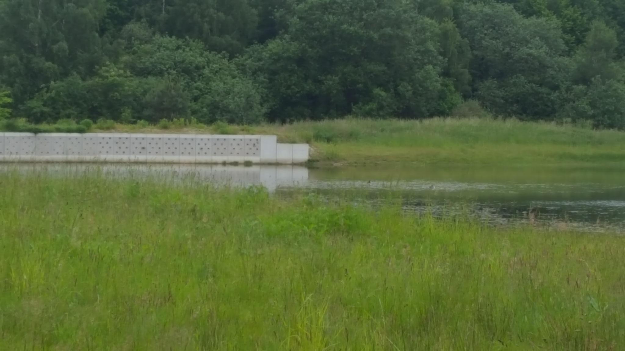 """NABU künstl. Uferschwalbenwand in Schüttorf, an der Straße """"Weiße Riete"""" Nähe Quendorfer See"""