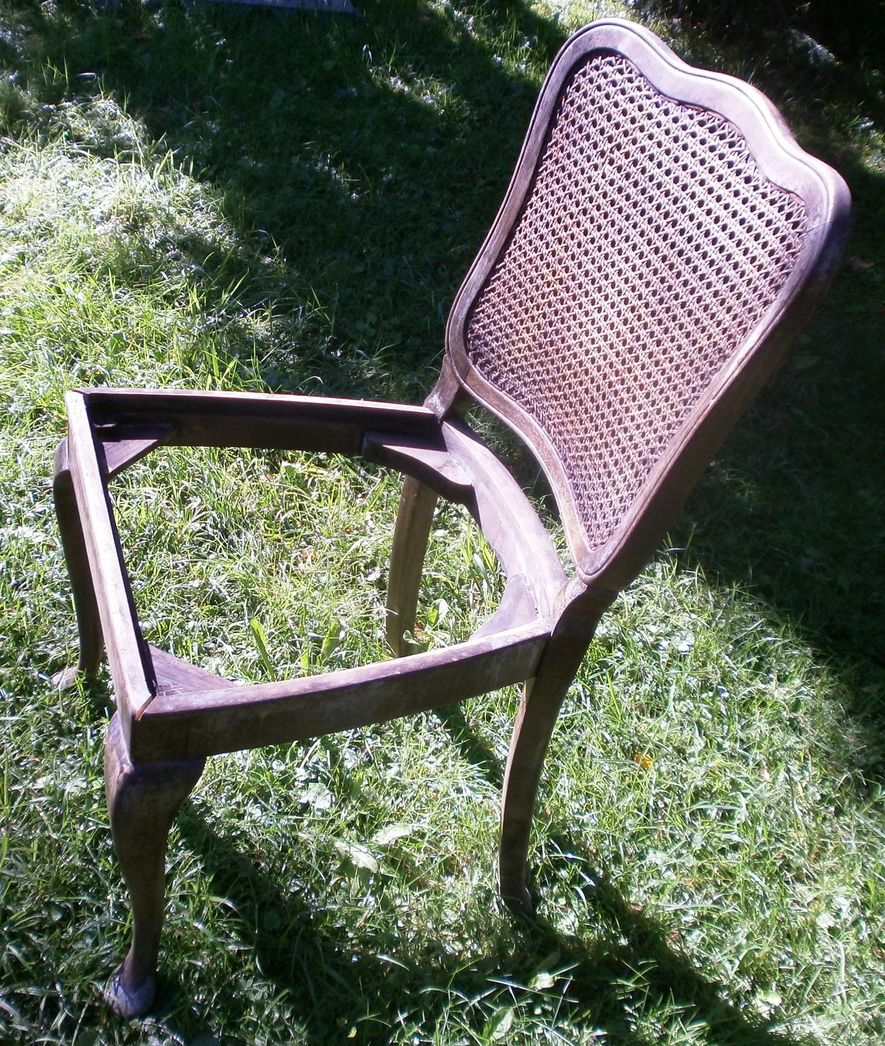 Restaurierung von Stühlen
