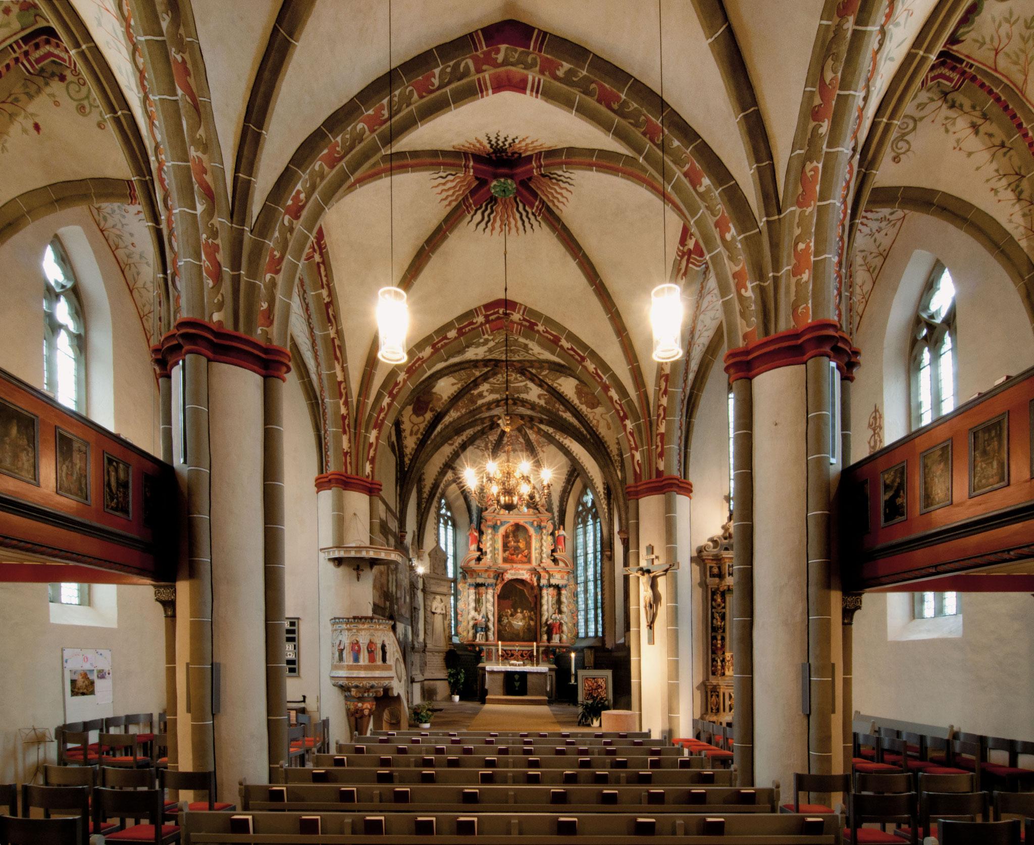 Erbaut als Hallenkirche: der Innenraum