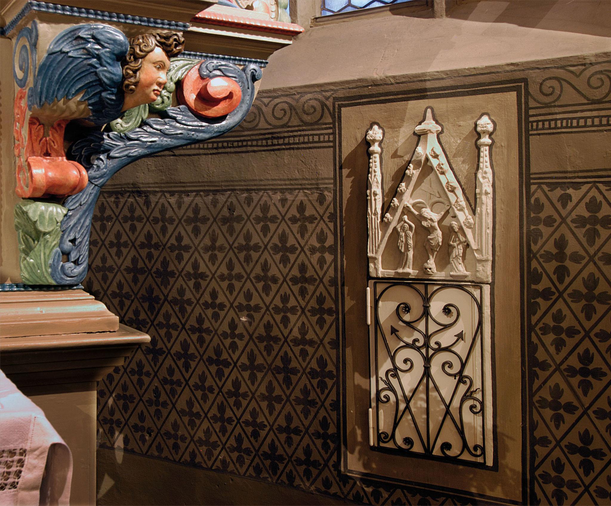 Detail Altar und Wandtabernakel (ca. 1350)