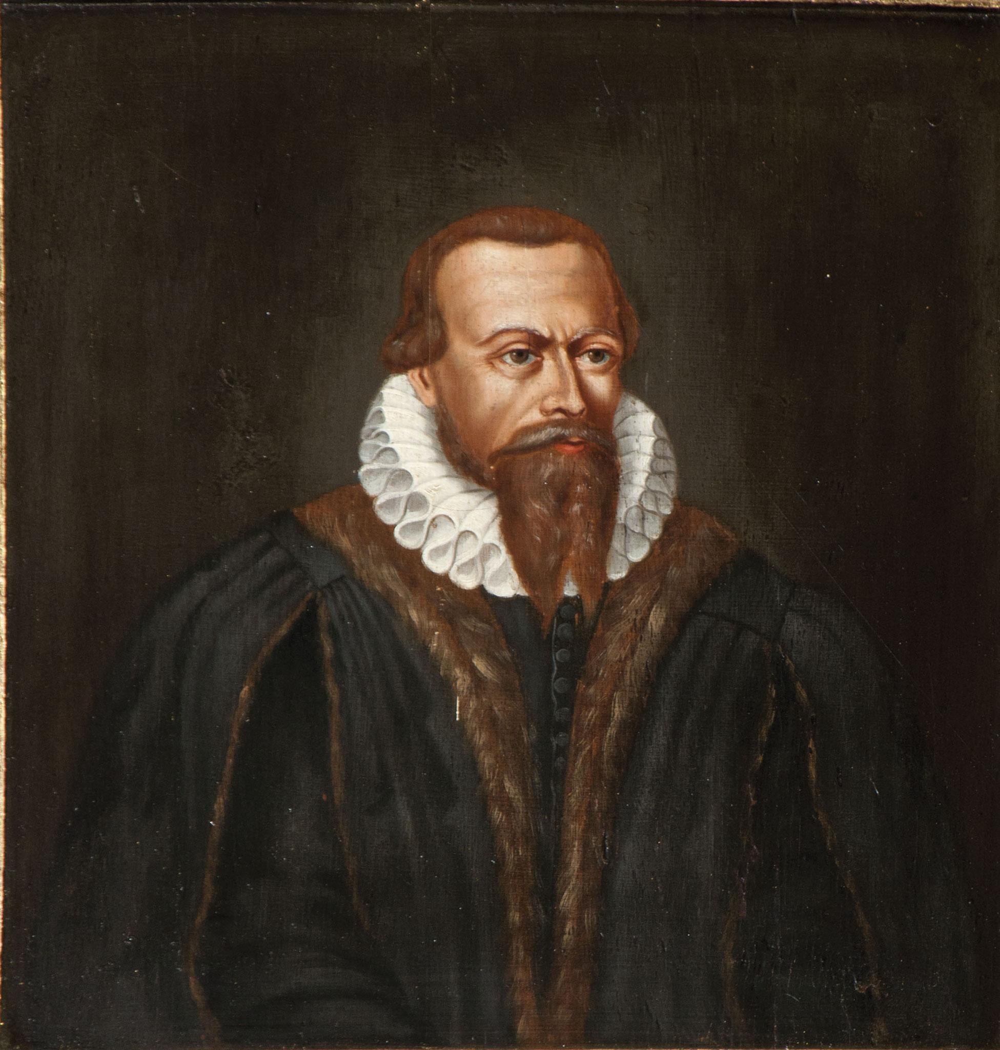 Bild Philipp Nicolais an der Emporenbrüstung