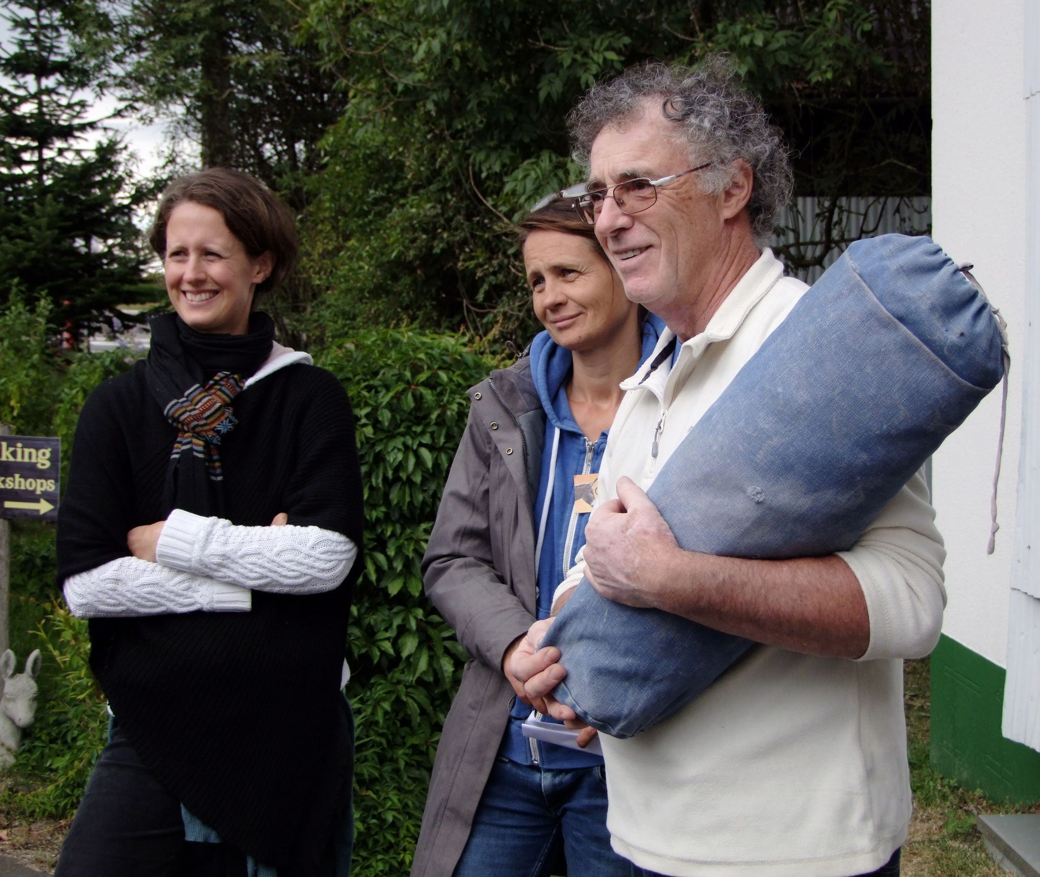 2016: Jacques und 2 Esel-Projekt-Teilnehmerinnen