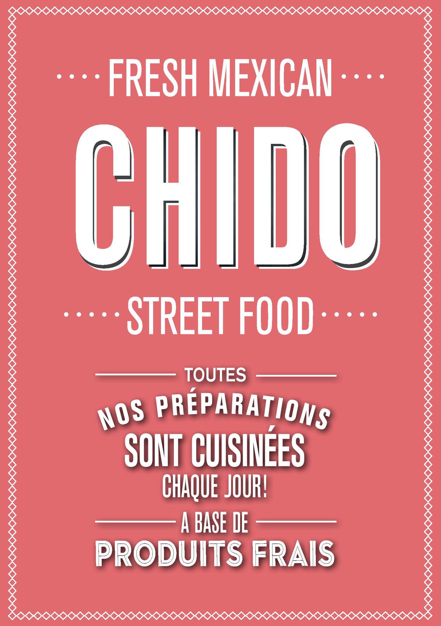 Carte de visite restaurant Chido