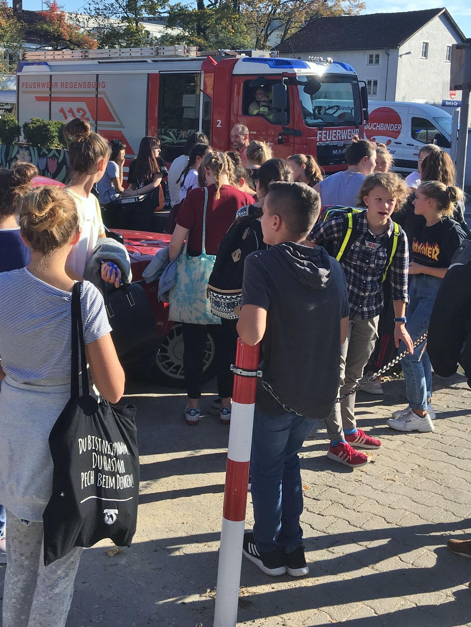 Unterbrechung der Prüfung druch Feuerwehreinsatz