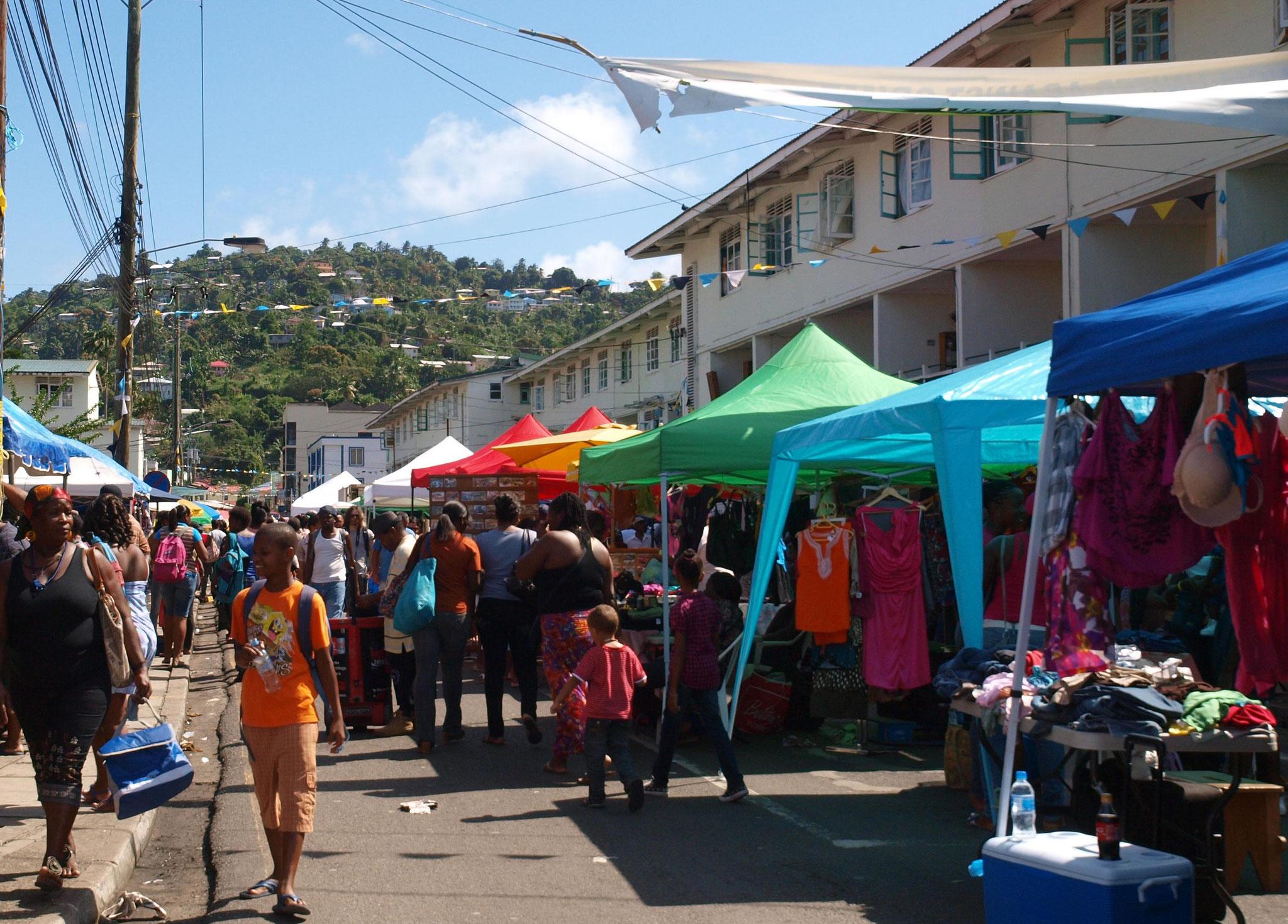 Castries,Markt