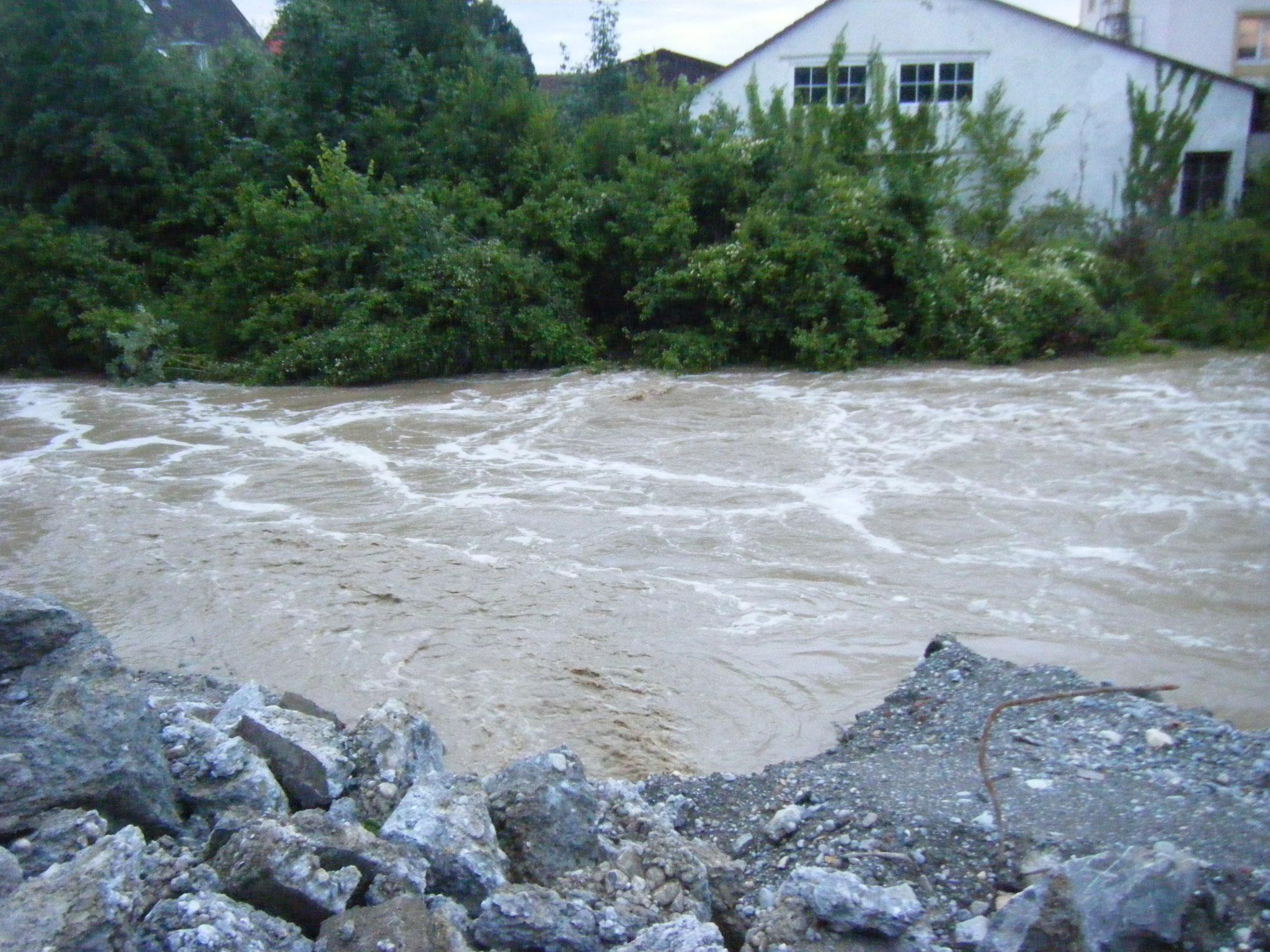 Die Rotach ist nicht harmlos, sondern schon ab 2 m Pegel ein reissender Fluss, das Wasser sollte dringend mehr Raum bekommen