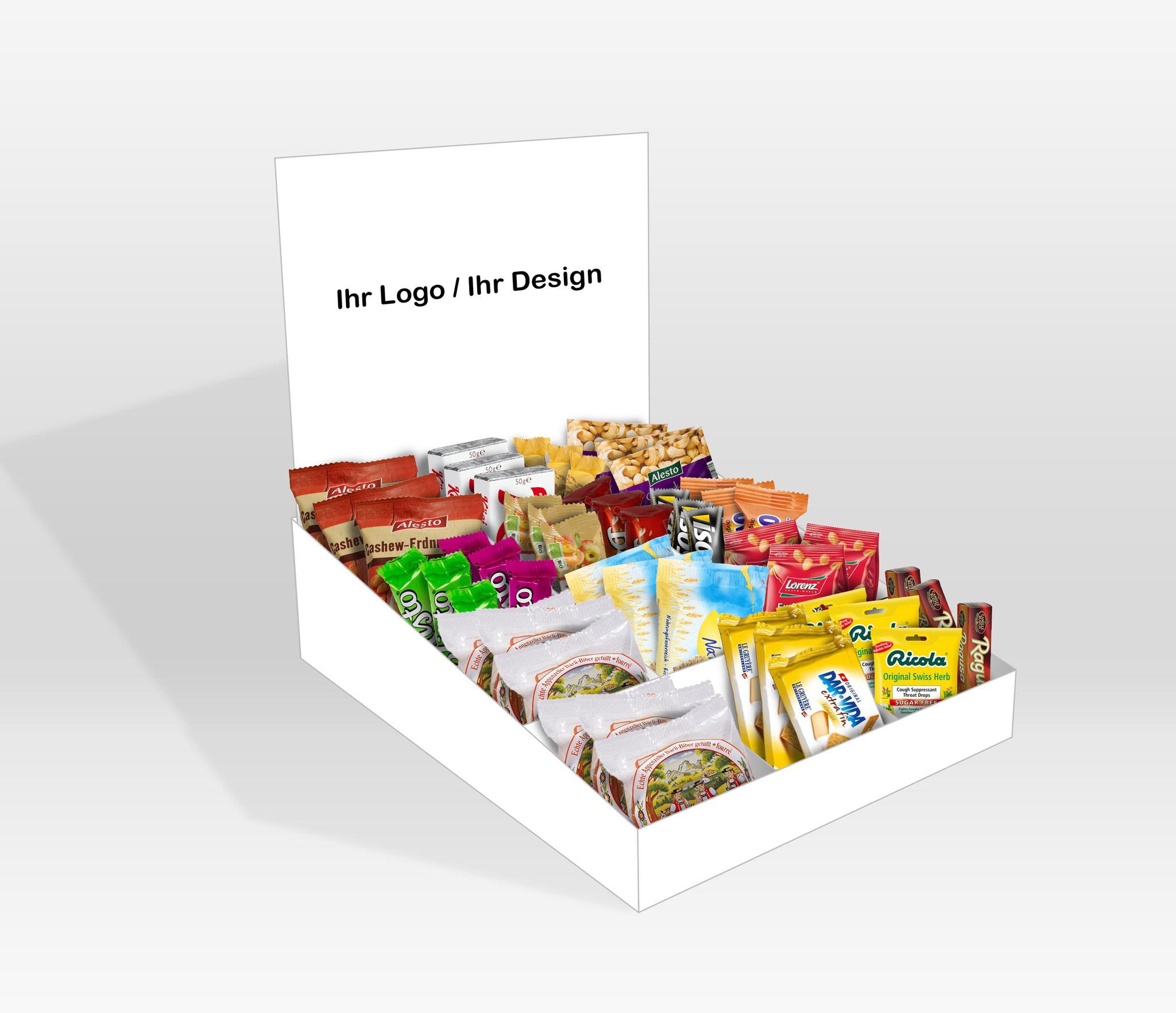 Die TWINT-Snackbox können Sie nach Ihren Wünschen gestalten