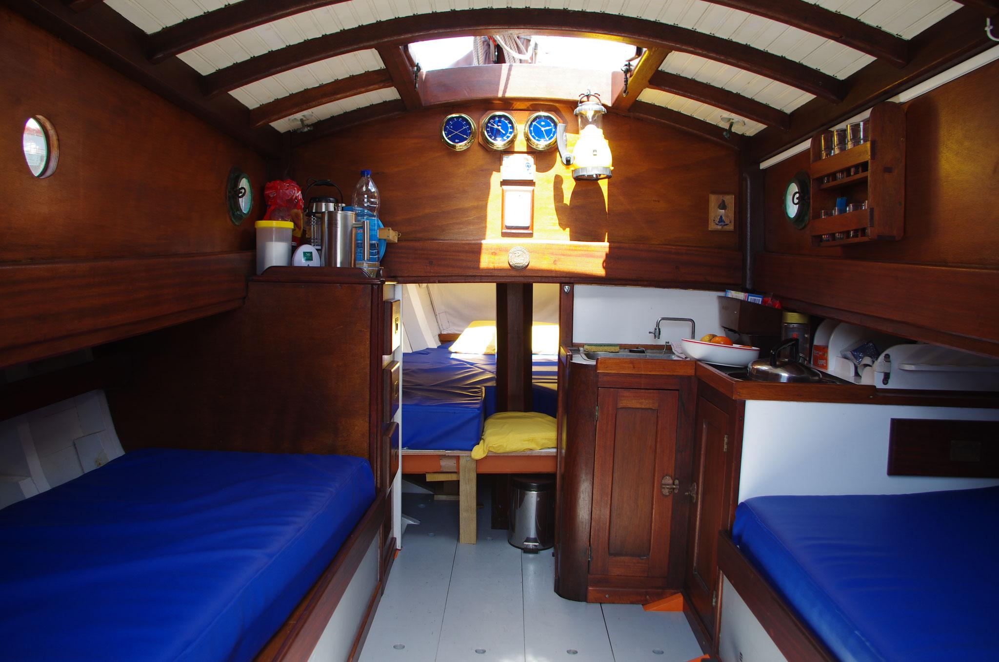Vue intérieure de la cabine