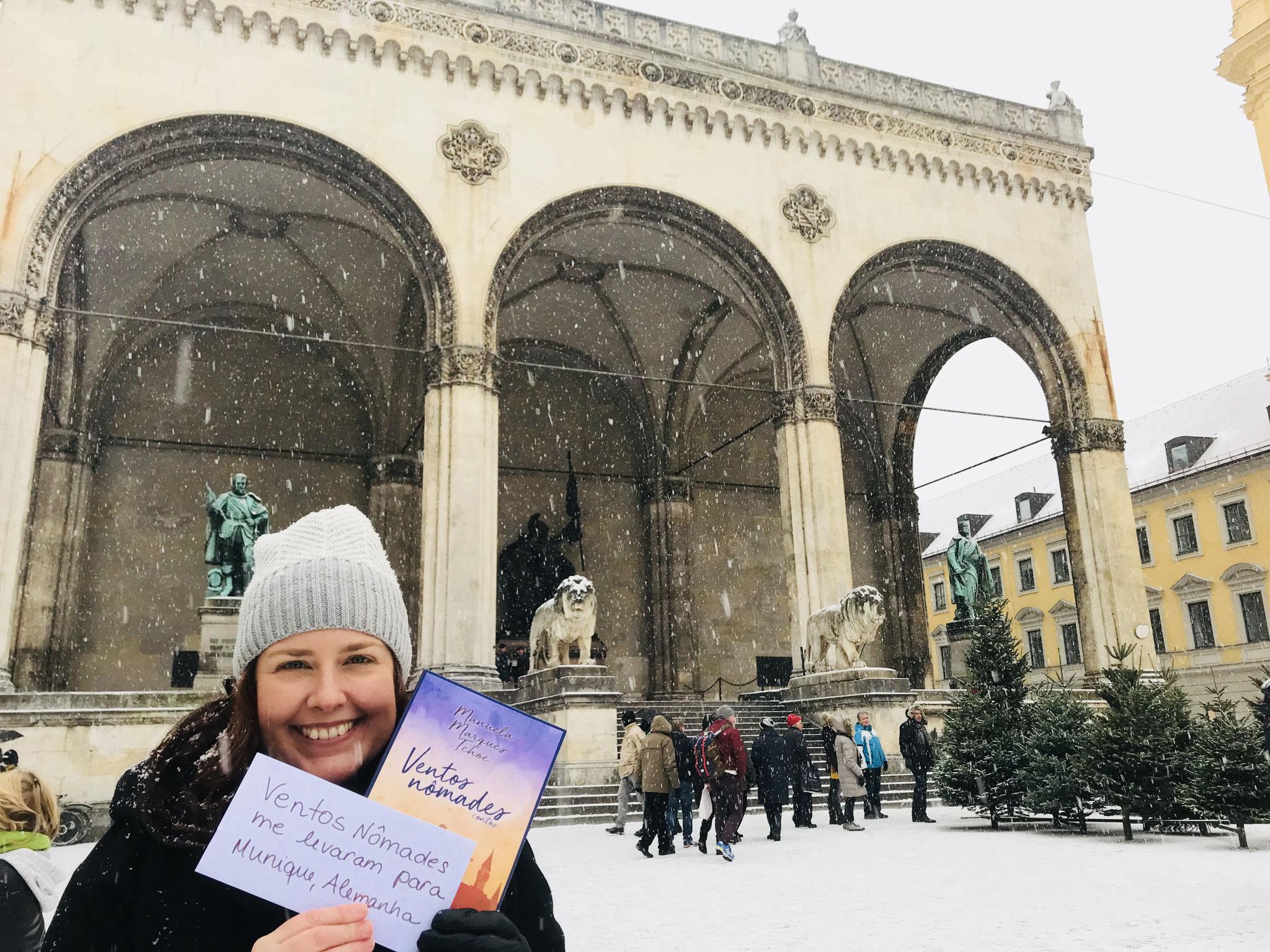 Em pleno inverno de Munique, eu e Ventos Nômades, a primeira edição. Foto by: Manuela Marques Tchoe.