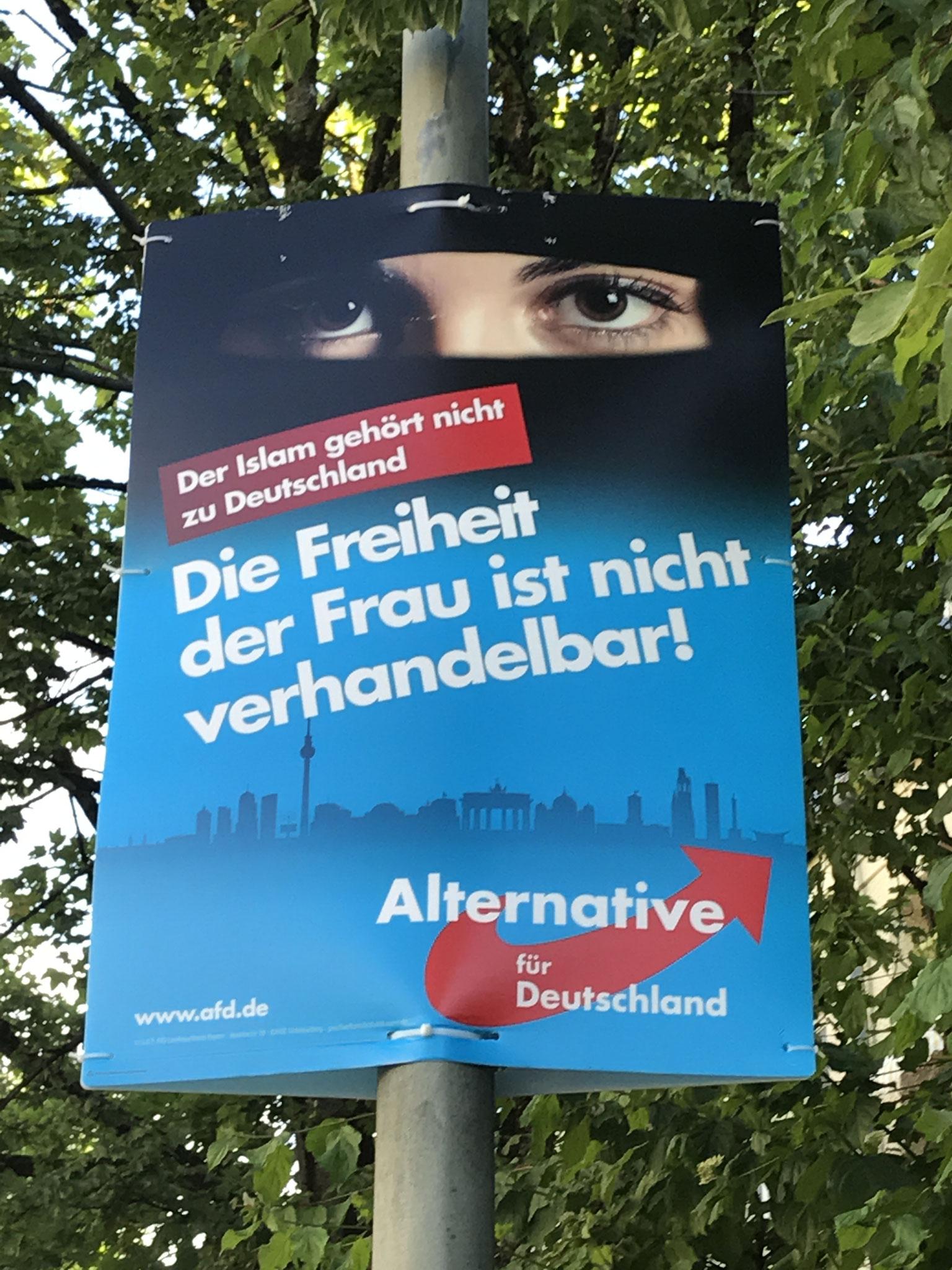 ¨O Islã não pertence à Alemanha. A liberdade da mulher não é negociável.¨