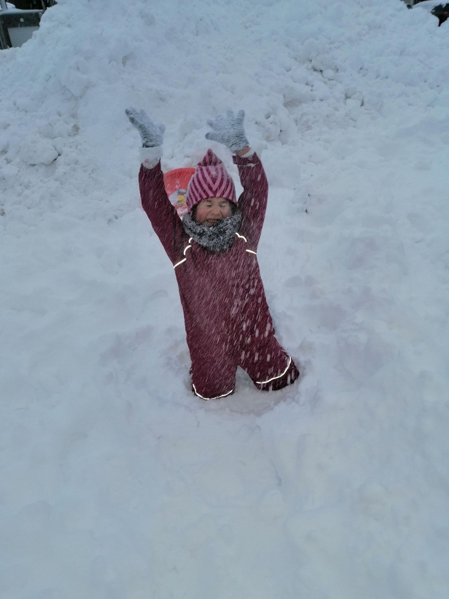 Schneebaden