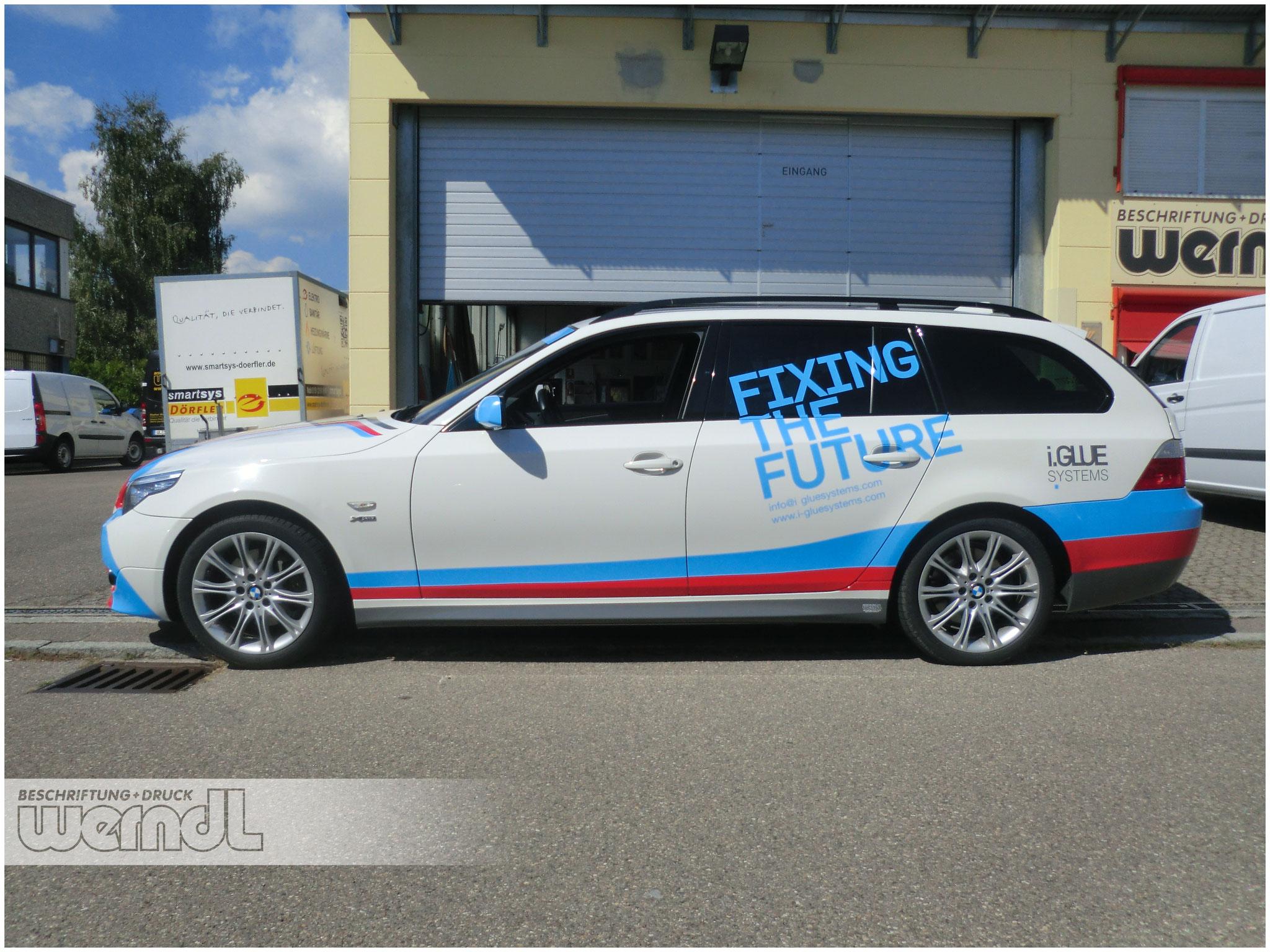Vollverklebung an einem BMW 5er Touring