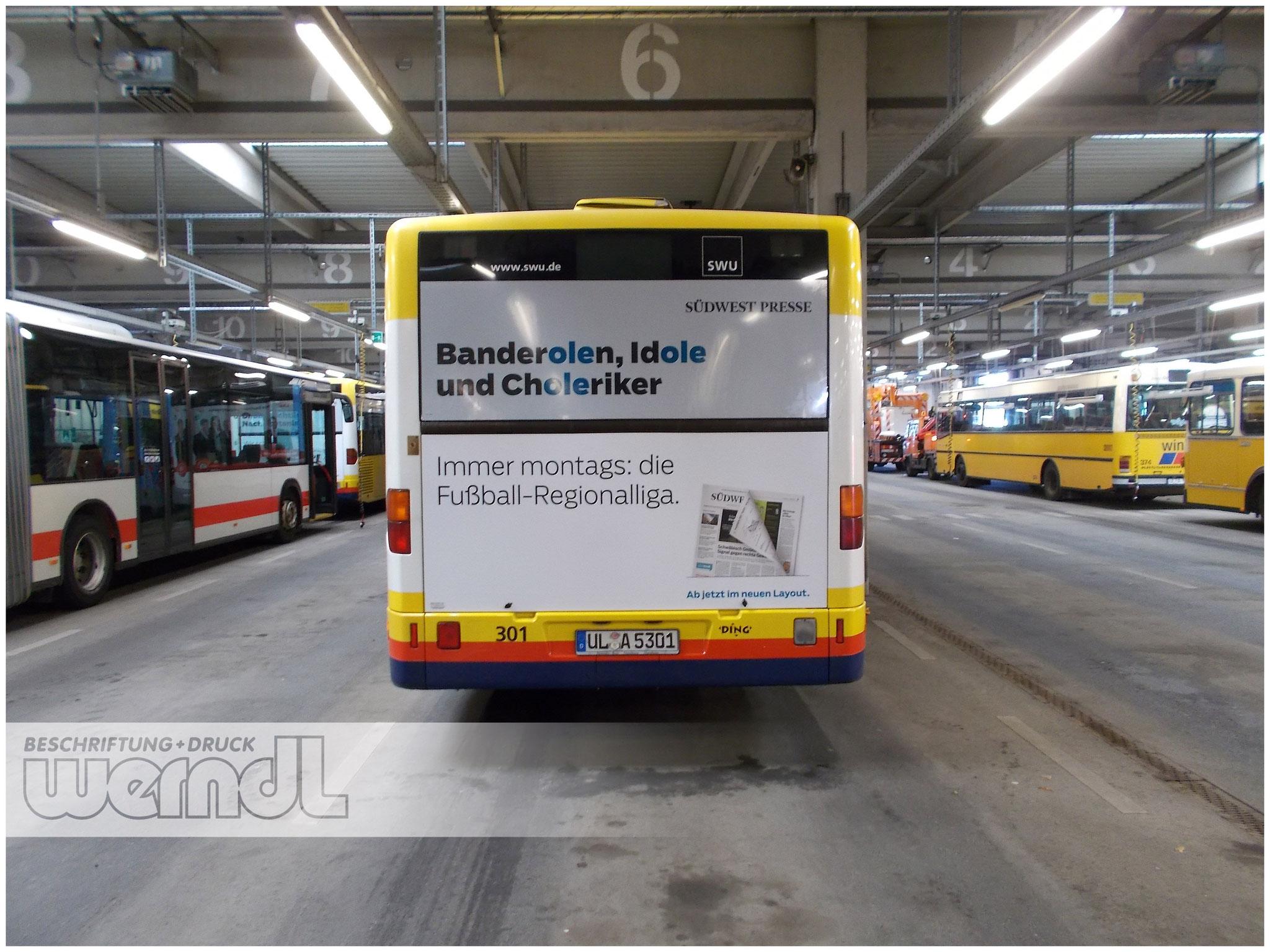Stadtbus Heckfolierung