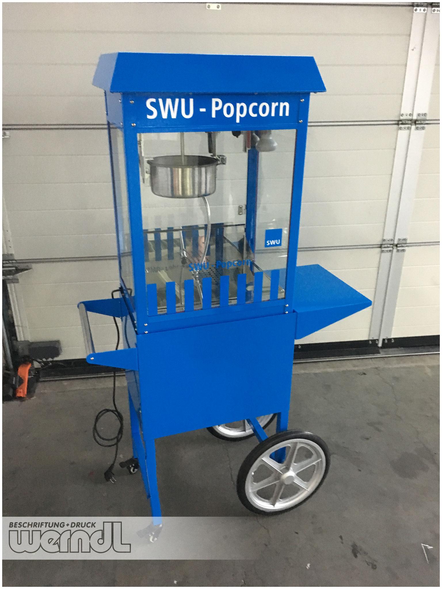 Zwei Räder - also auch ein Fahrzeug ;) - Folierung einer Popcornmaschine für die SWU - Basisfarbe war Rot.