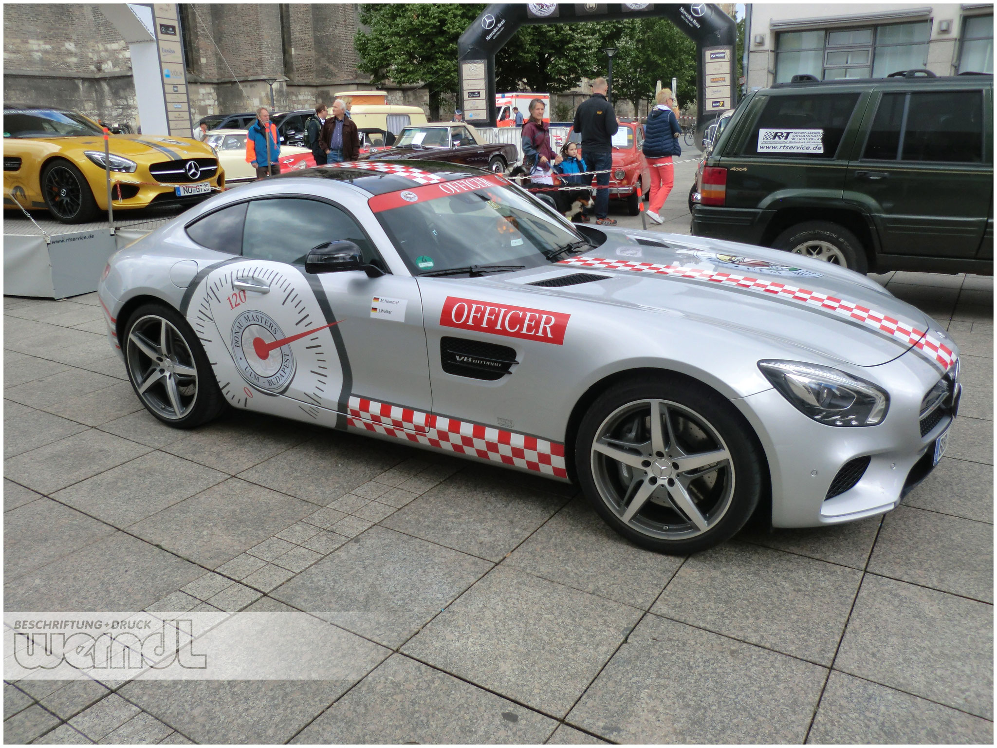 MB AMG GT Pacecar für die Donau Masters Oldtimer Rallye